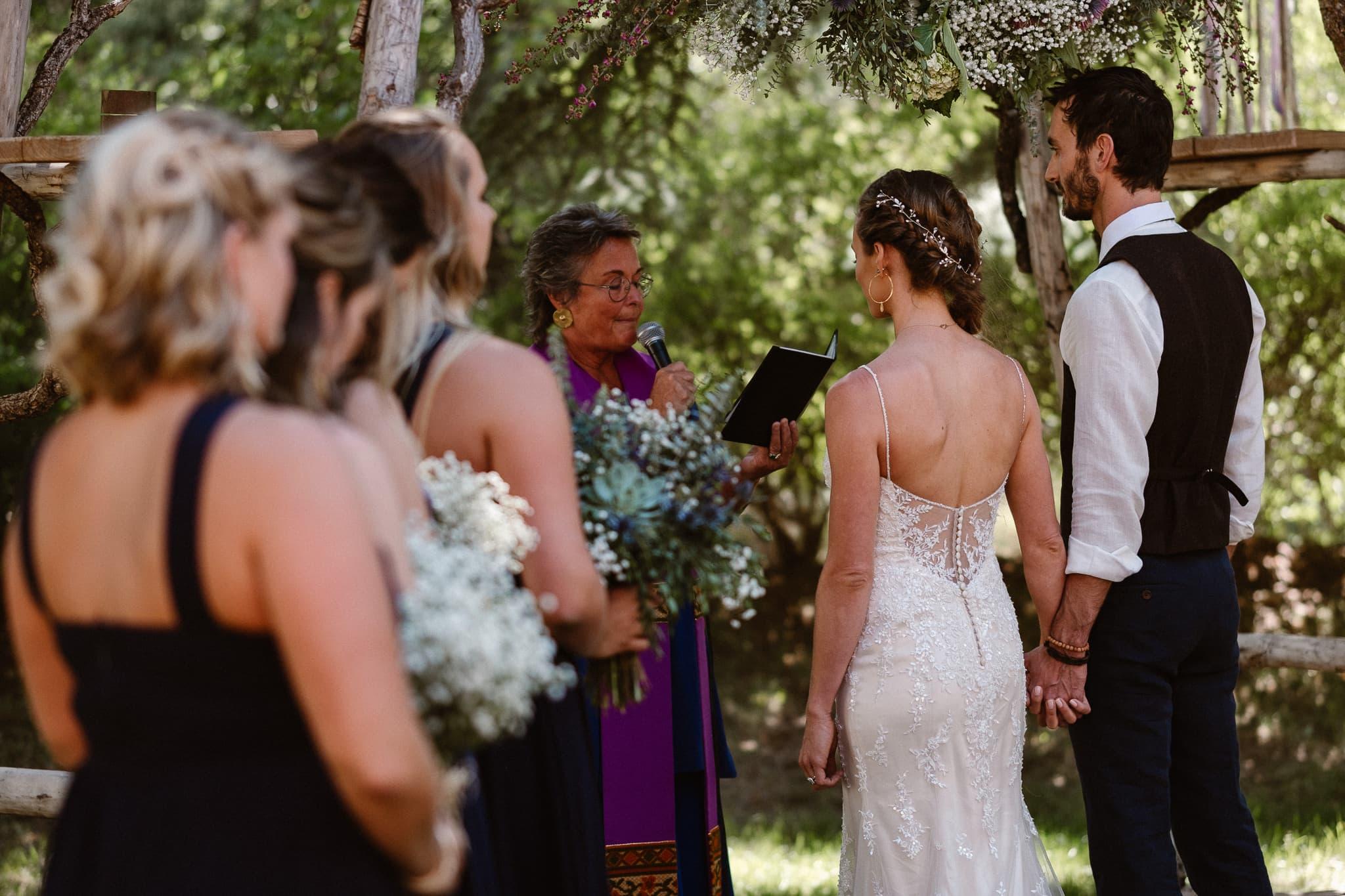 Redstone Inn wedding photographer, Carbondale wedding photographer, Colorado intimate wedding photographer, wedding ceremony