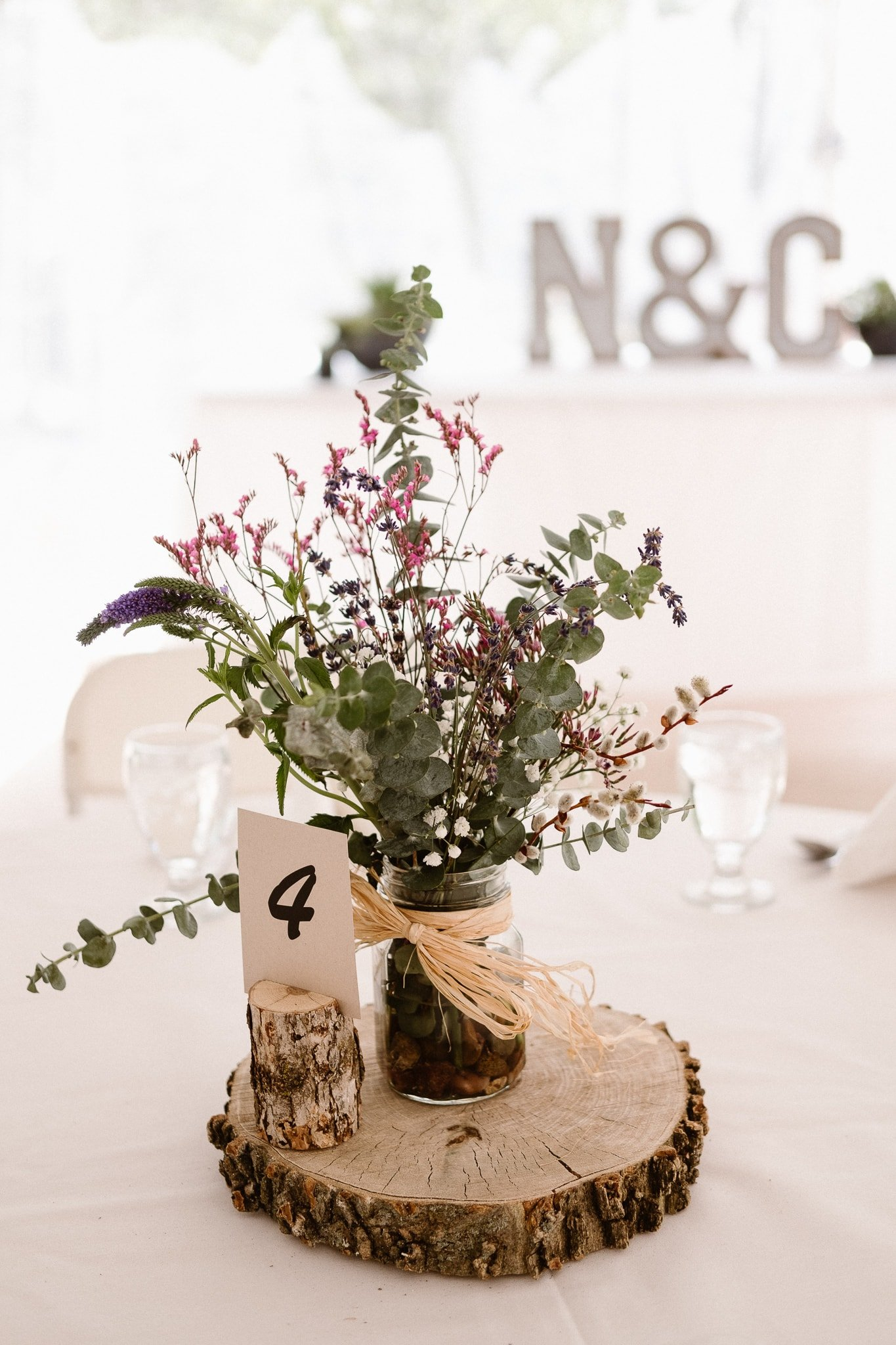 Redstone Inn wedding photographer, Carbondale wedding photographer, Colorado intimate wedding photographer, wedding reception decor with wildflowers