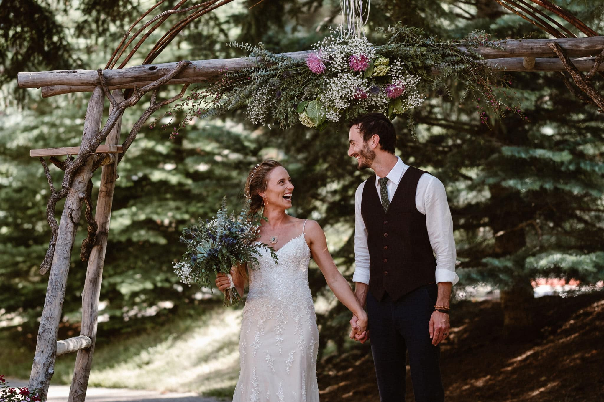 Redstone Inn wedding photographer, Carbondale wedding photographer, Colorado intimate wedding photographer, wedding ceremony bride and groom announcement