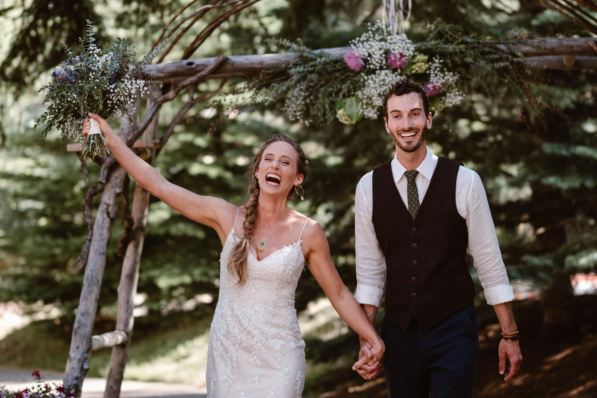 Redstone Inn wedding photographer, Carbondale wedding photographer, Colorado intimate wedding photographer, wedding ceremony bride and groom announcement