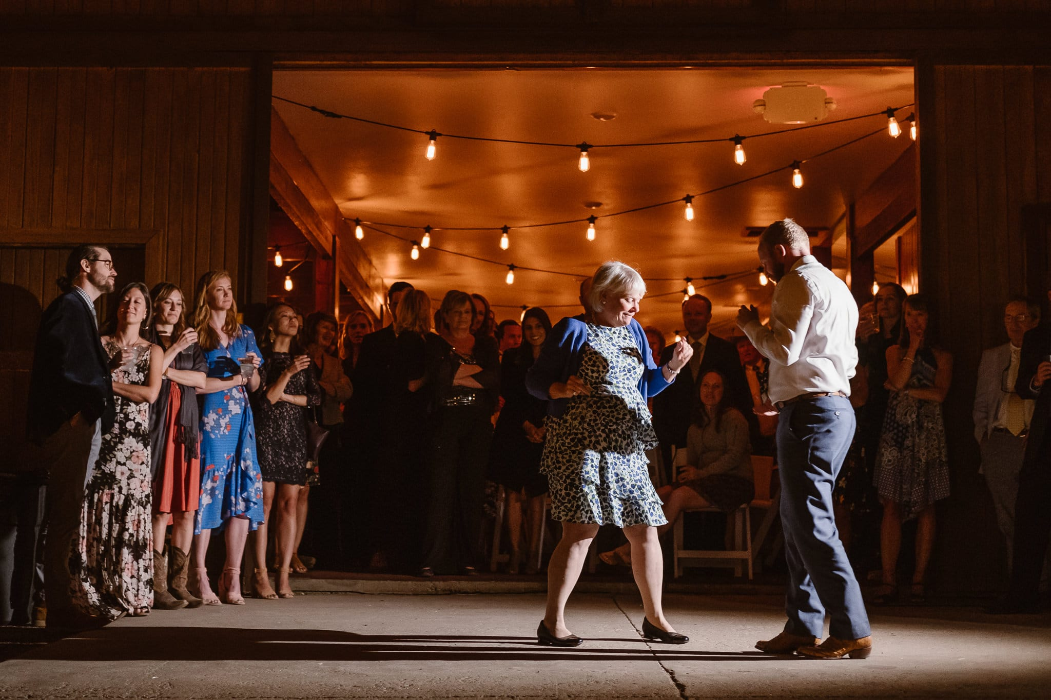 Steamboat Springs wedding photographer, La Joya Dulce wedding, Colorado ranch wedding venues, groom and mother dancing