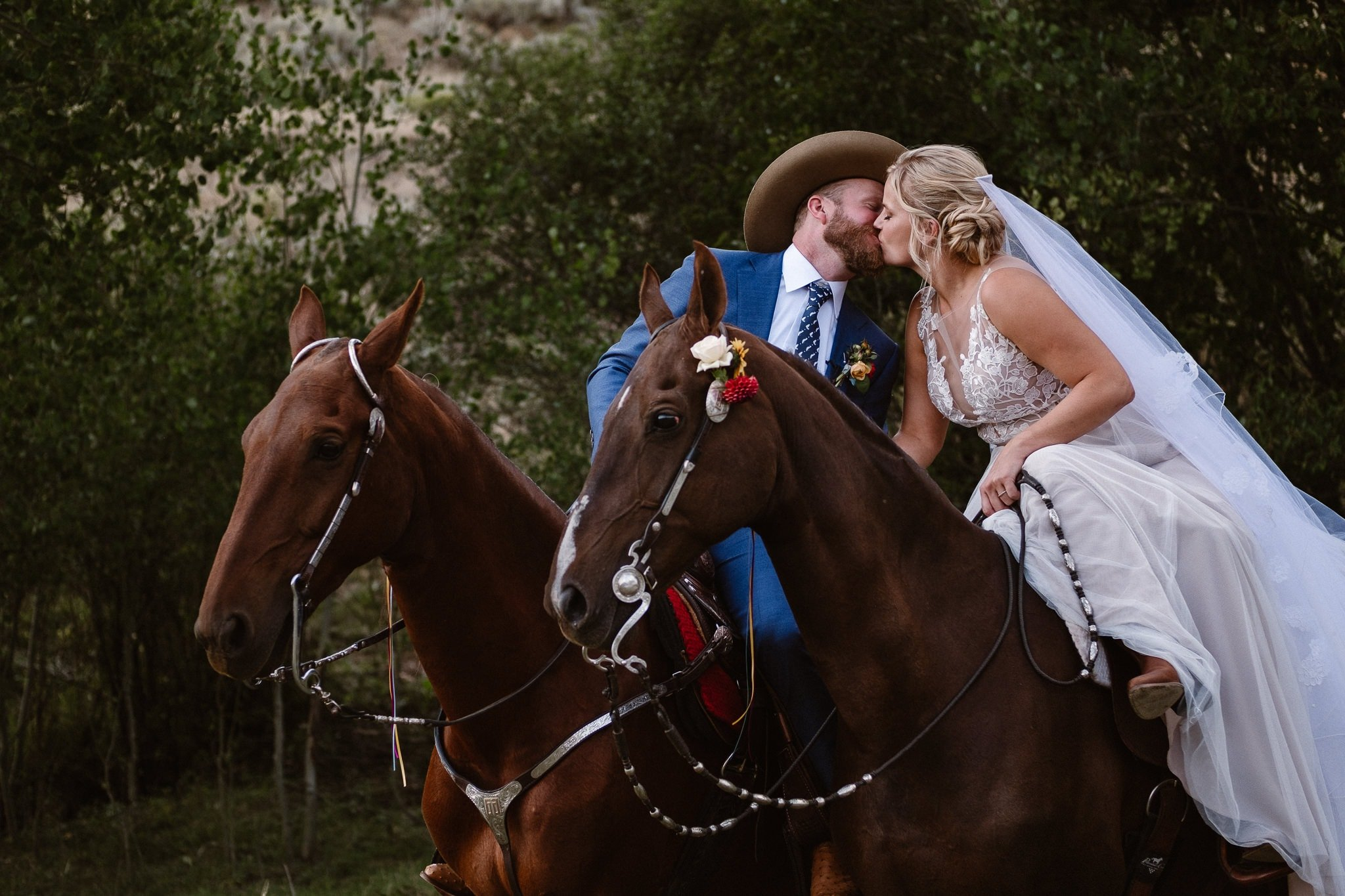 Steamboat Springs wedding photographer, La Joya Dulce wedding, Colorado ranch wedding venues, outdoor wedding ceremony, Colorado wedding, Rocky Mountain wedding, ranch wedding, bride and groom riding horses