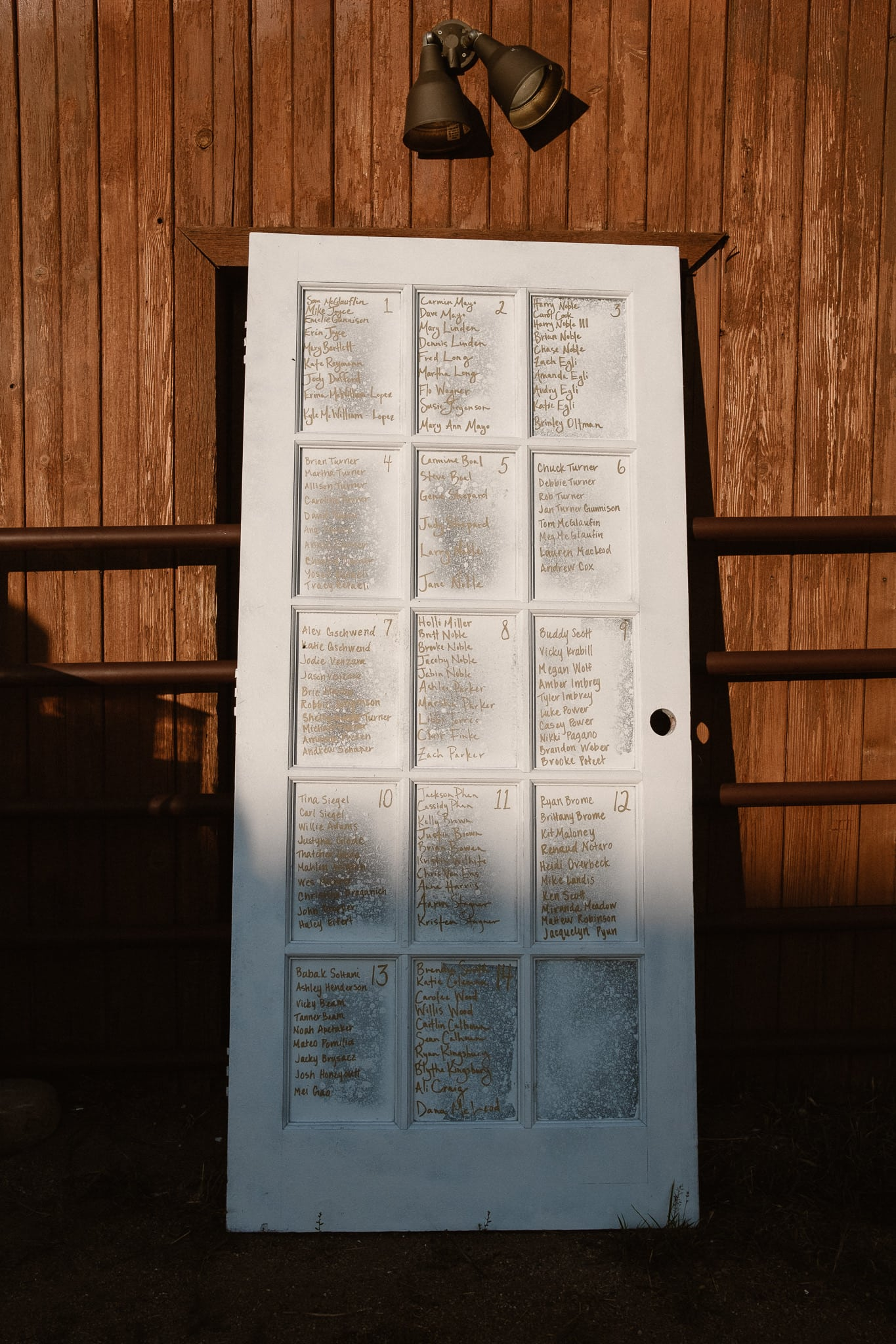 Steamboat Springs wedding photographer, La Joya Dulce wedding, Colorado ranch wedding venues, barn door seating chart