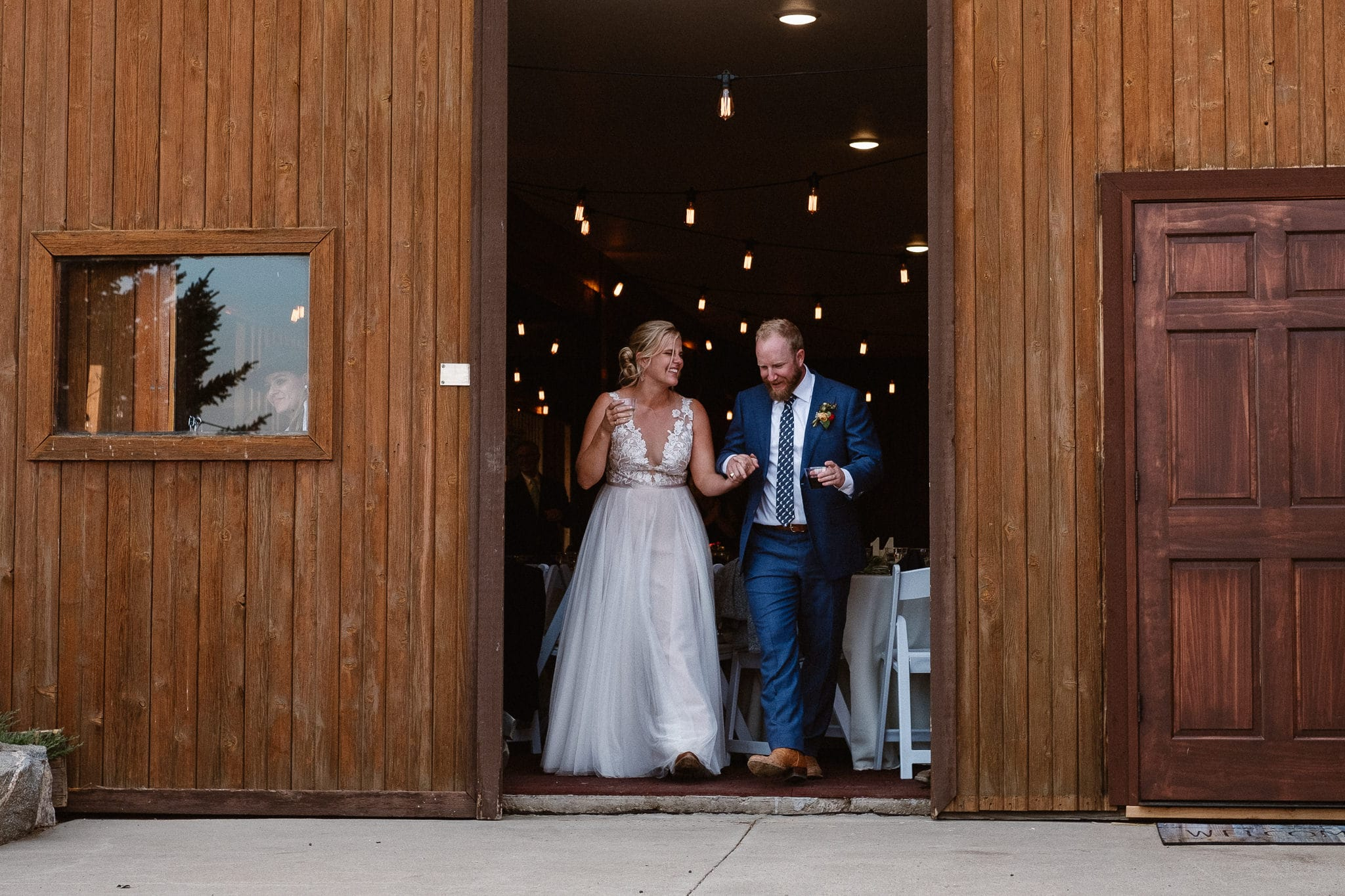 Steamboat Springs wedding photographer, La Joya Dulce wedding, Colorado ranch wedding venues, bride and groom grand entrance