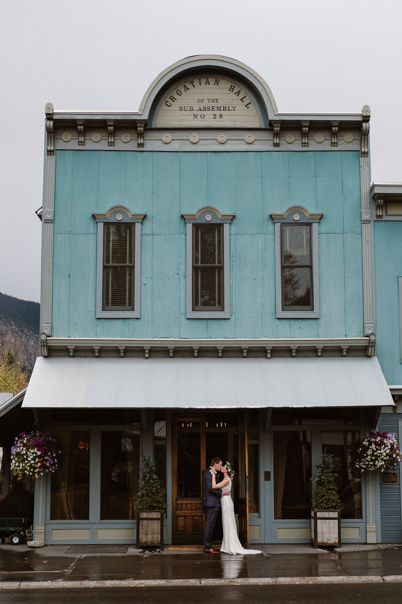 Crested Butte Wedding Photographer, Scarp Ridge Lodge intimate elopement, bride and groom first look at luxury mountain lodge in Colorado