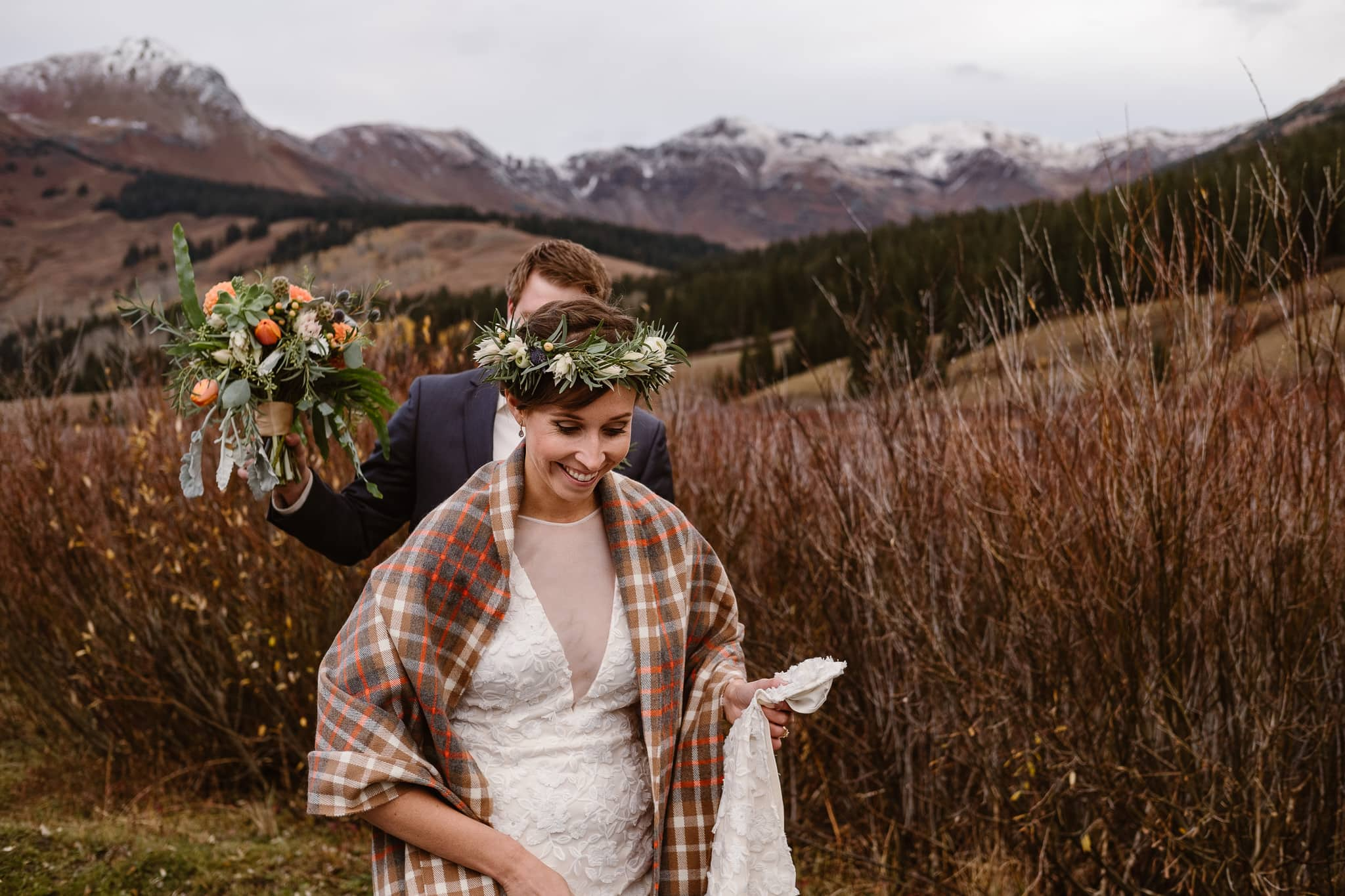 Crested Butte Wedding Photographer, Scarp Ridge Lodge intimate elopement, outdoor elopement in Colorado, Colorado mountain adventure wedding
