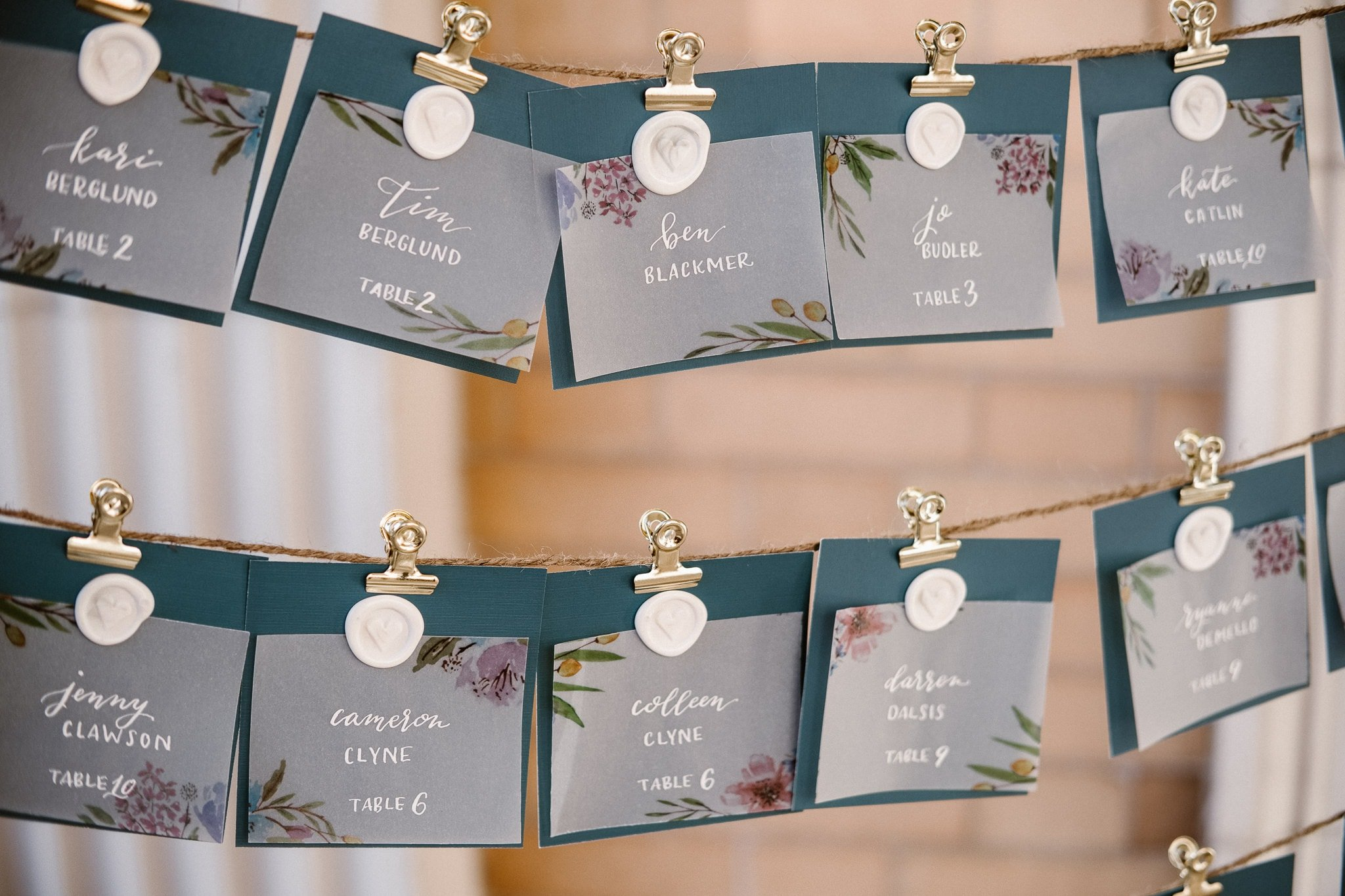 Grant Humphreys Mansion Wedding Photographer, Denver wedding photographer, Colorado wedding photographer, watercolor wedding place cards