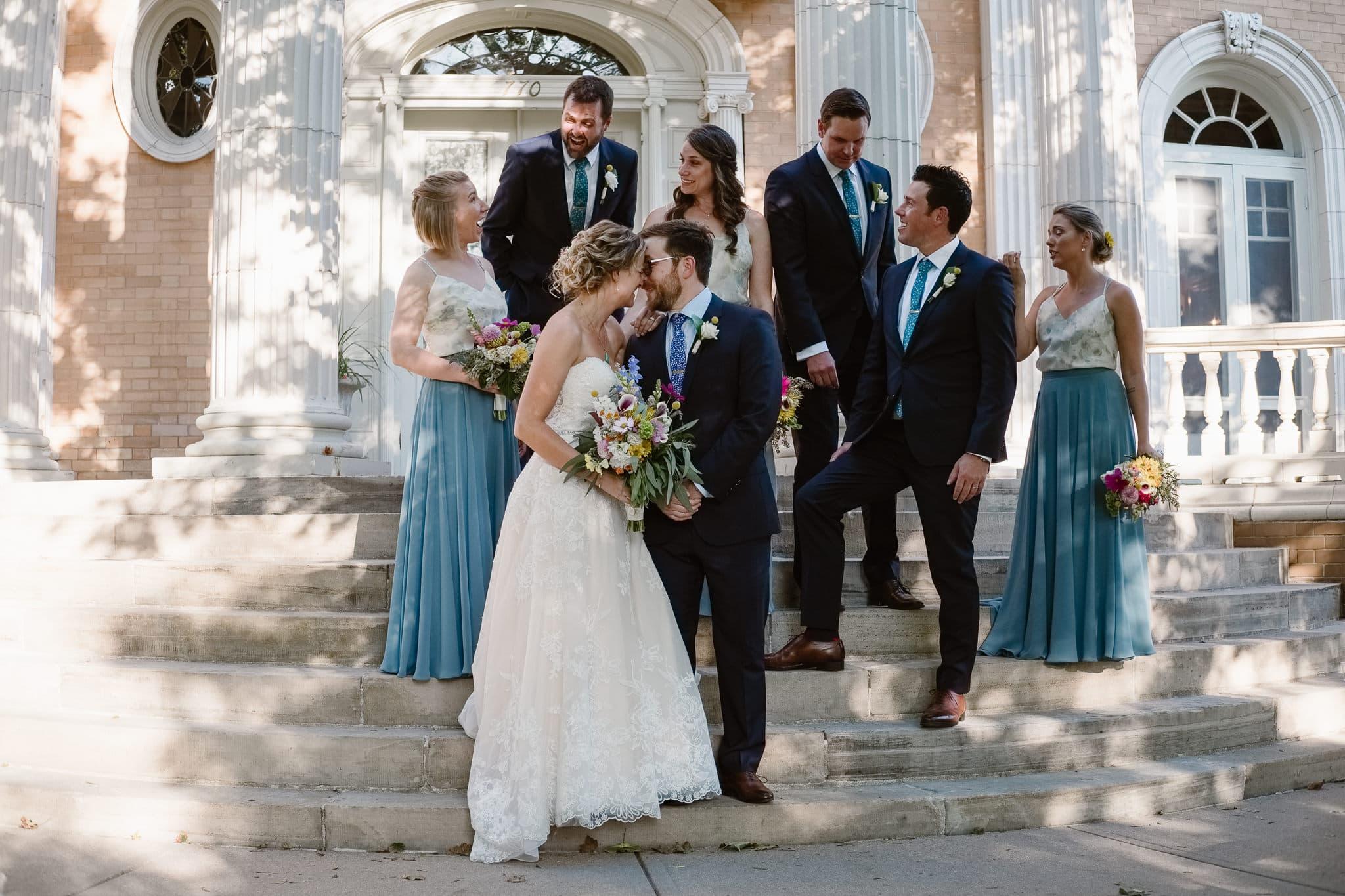 Grant Humphreys Mansion Wedding Photographer, Denver wedding photographer, Colorado wedding photographer, wedding party photos