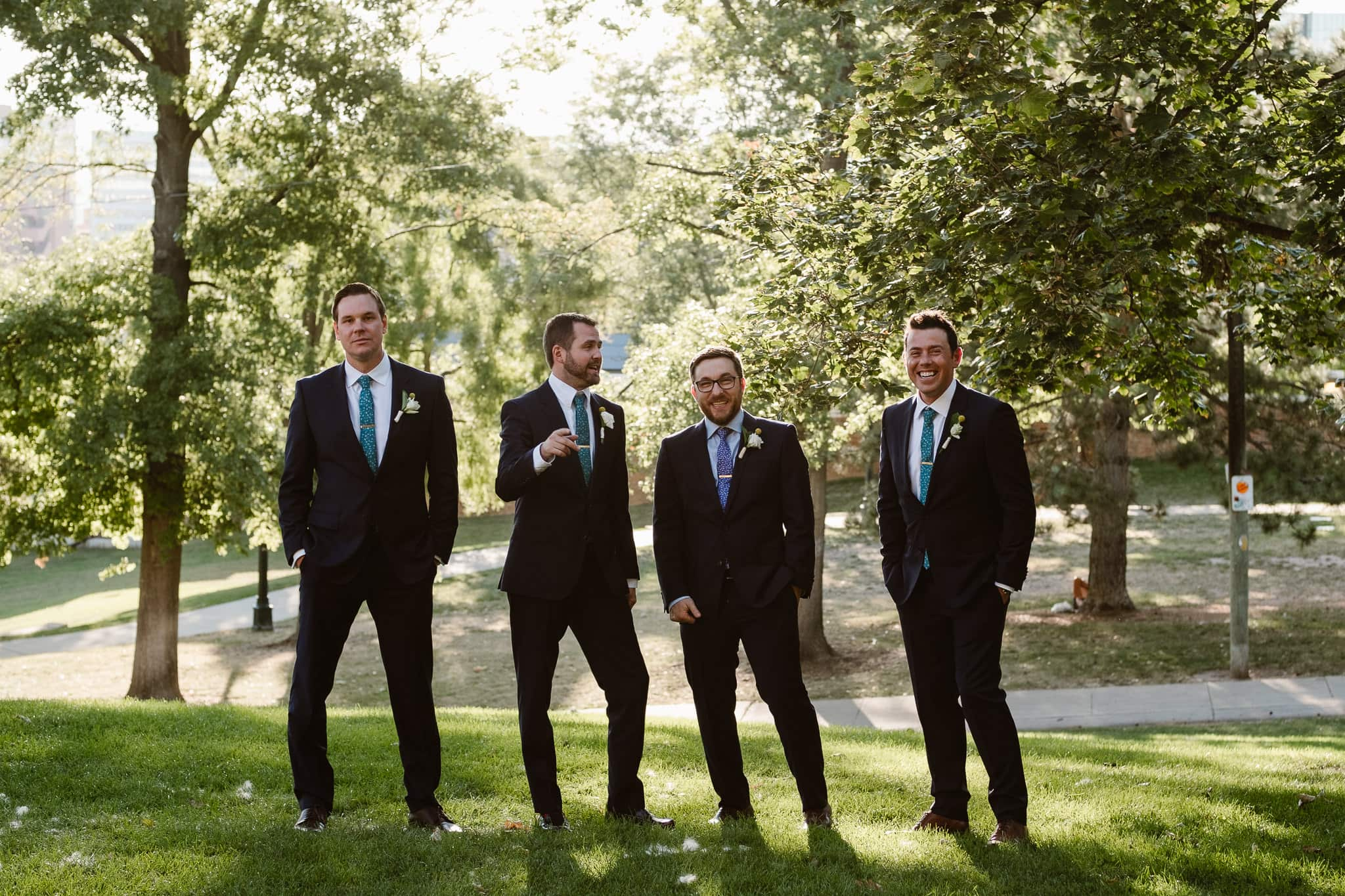 Grant Humphreys Mansion Wedding Photographer, Denver wedding photographer, Colorado wedding photographer, groom with groomsmen