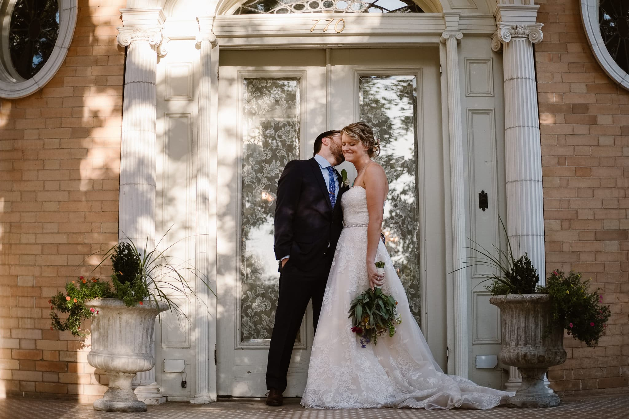 Grant Humphreys Mansion Wedding Photographer, Denver wedding photographer, Colorado wedding photographer, bride and groom portraits, French chateau wedding
