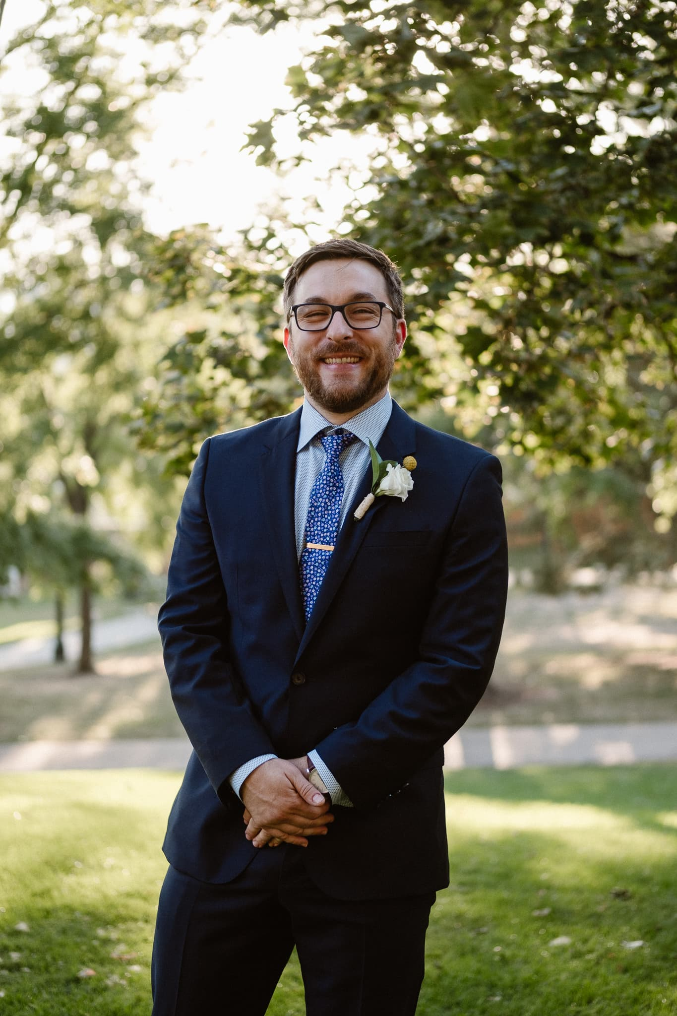 Grant Humphreys Mansion Wedding Photographer, Denver wedding photographer, Colorado wedding photographer, groom portrait, Hugo Boss suit,