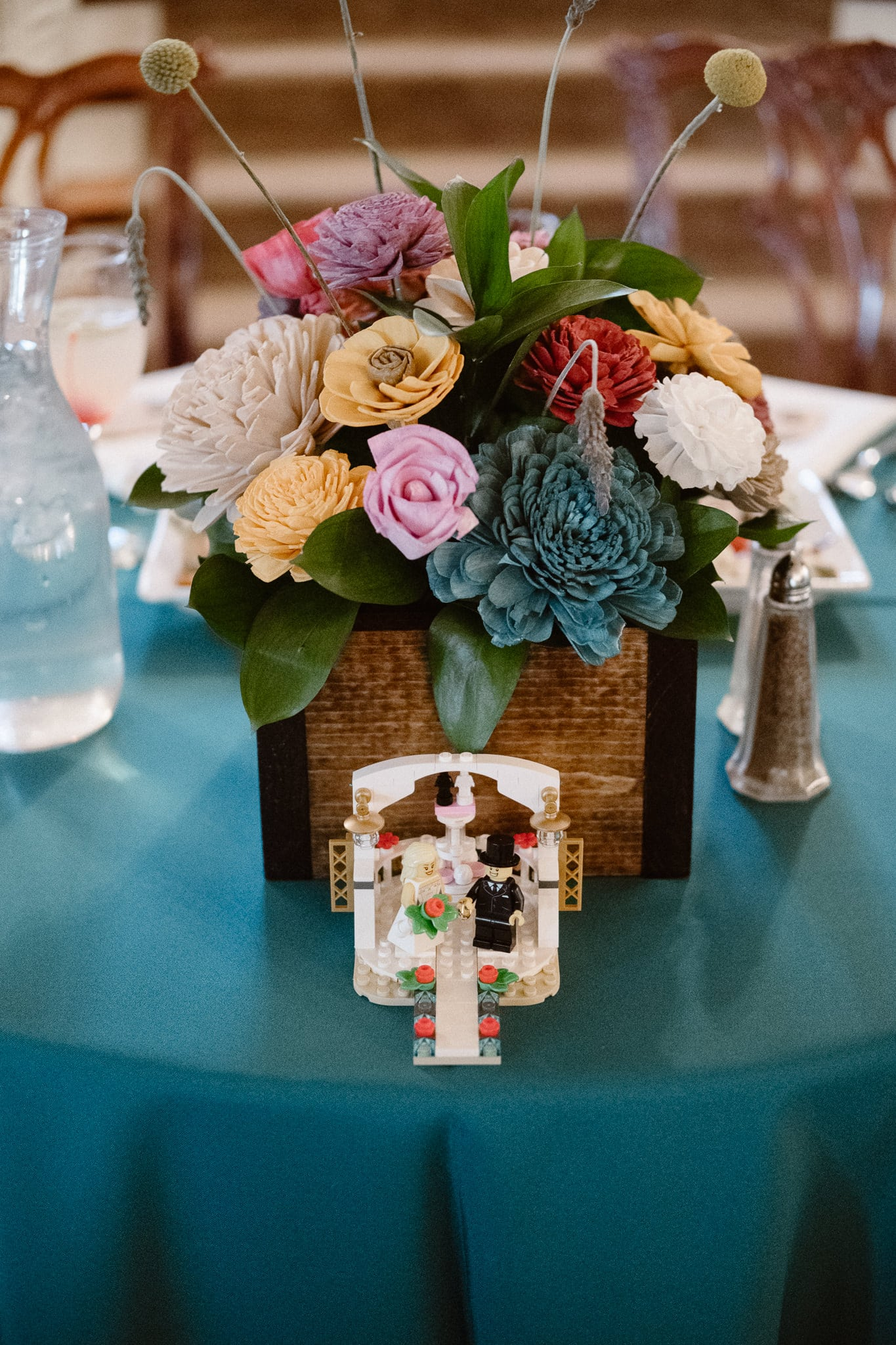 Grant Humphreys Mansion Wedding Photographer, Denver wedding photographer, Colorado wedding photographer, reception venue, wedding reception decor, wedding lego figure