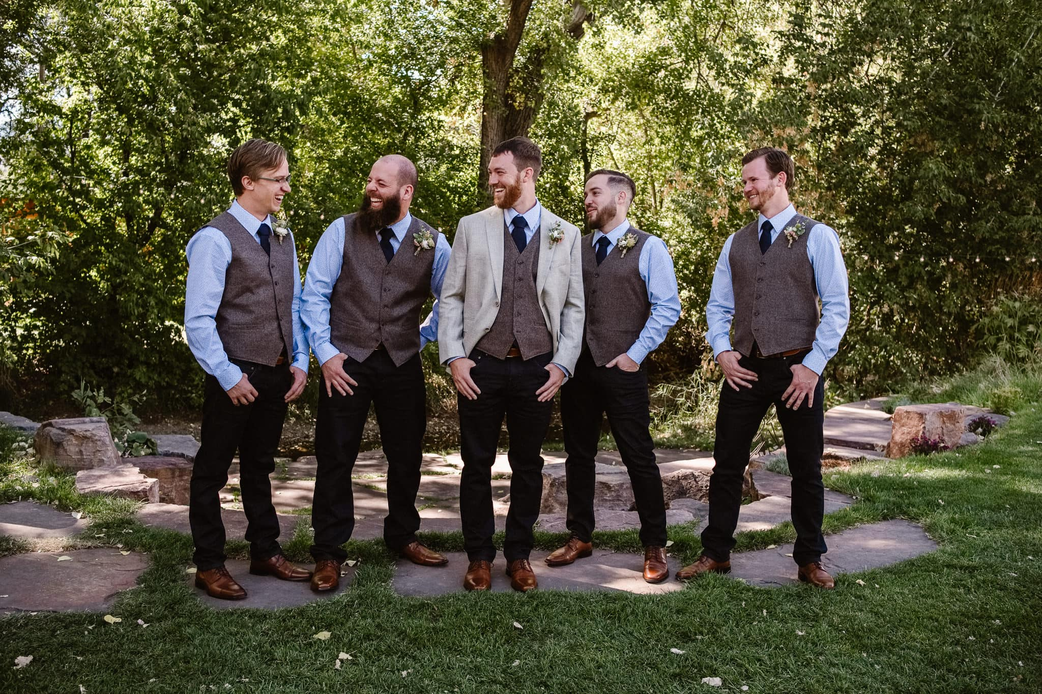 Lyons Farmette wedding photographer, Colorado intimate wedding photographer, groom and groomsmen portraits, grooms party photos,