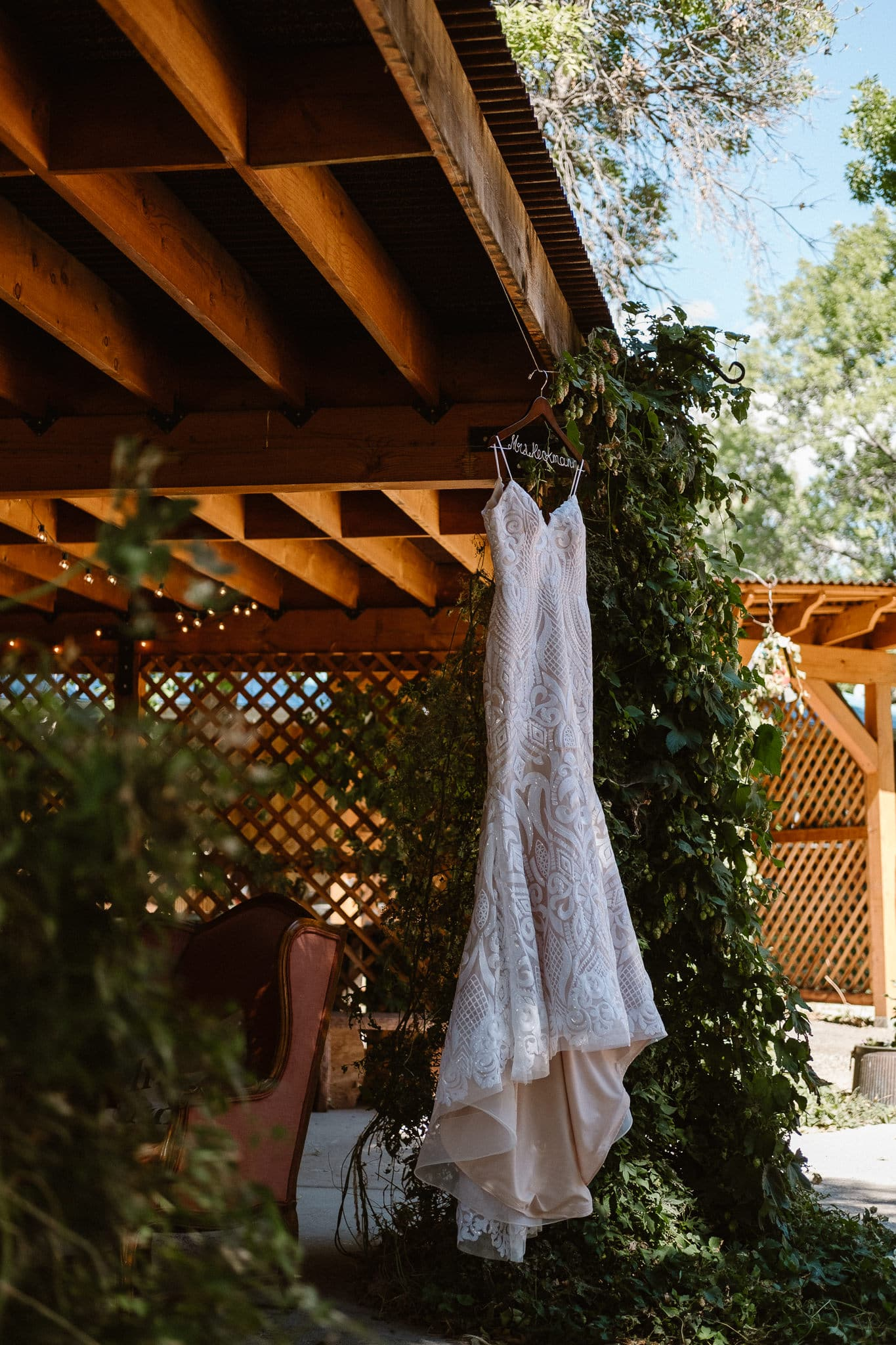 Lyons Farmette wedding photographer, Rue de Seine wedding dress, Colorado intimate wedding photographer, dress shot