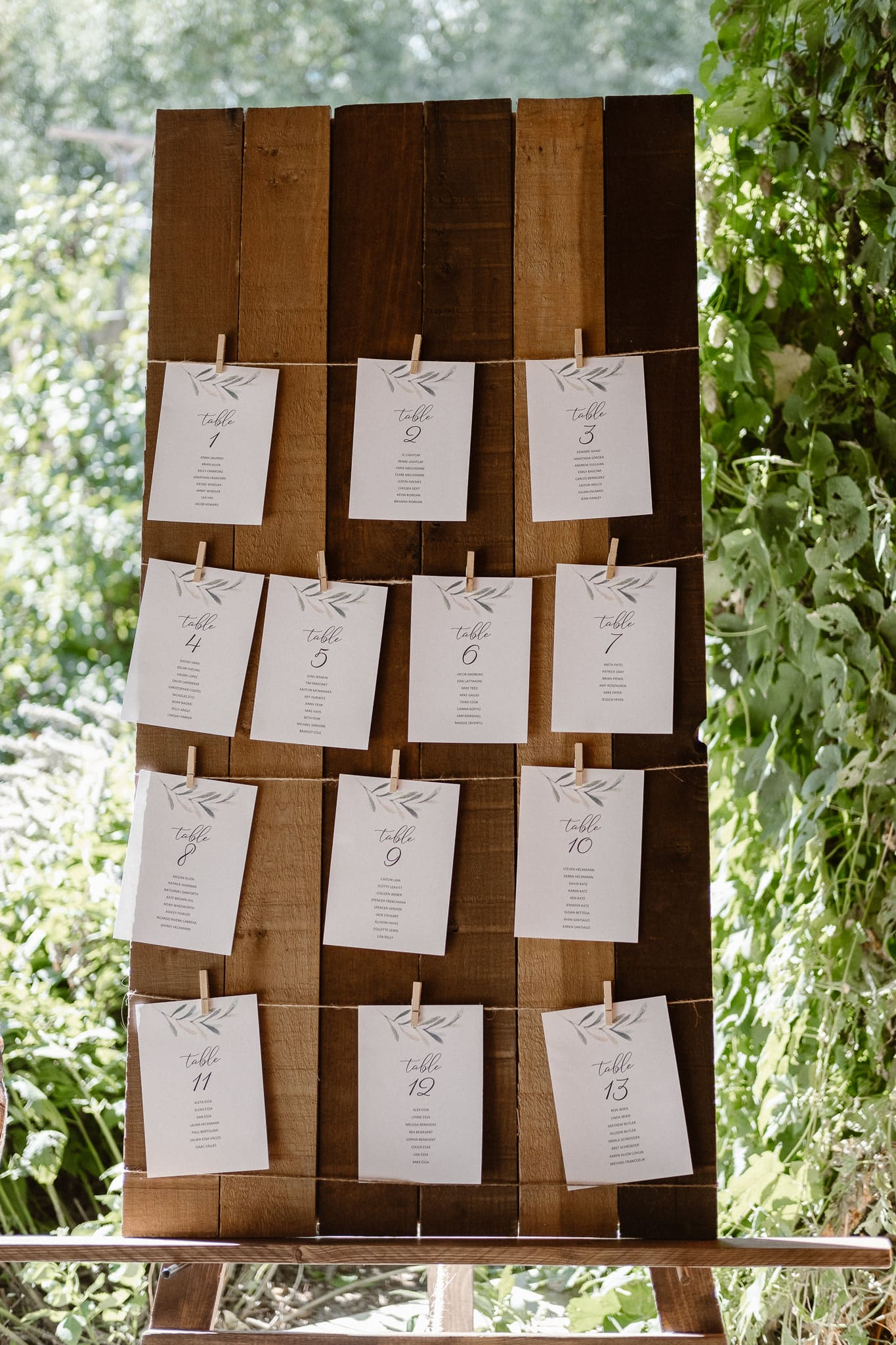 Lyons Farmette wedding photographer, Colorado intimate wedding photographer, table cards, place cards