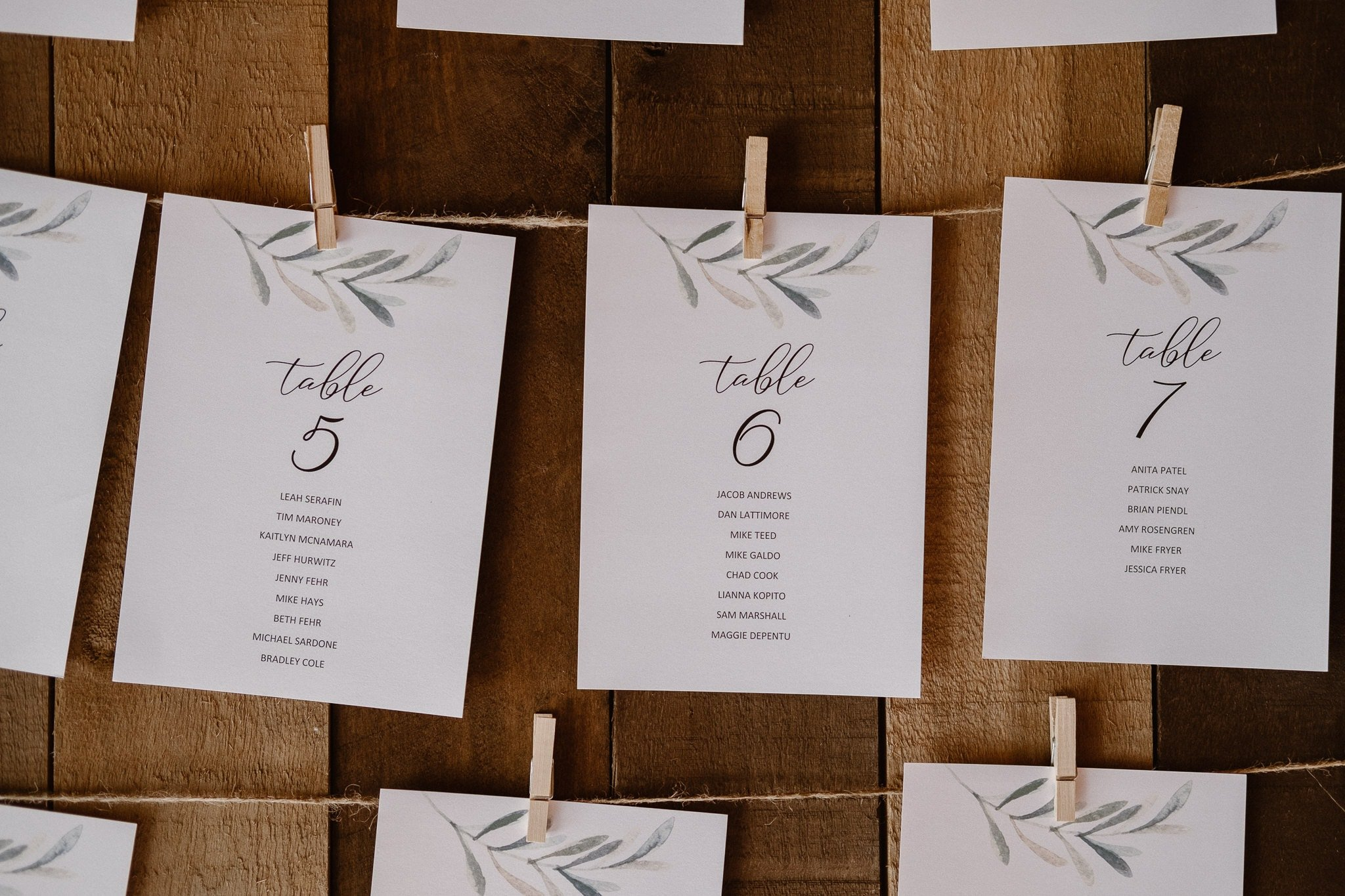 Lyons Farmette wedding photographer, Colorado intimate wedding photographer, table cards, place cards