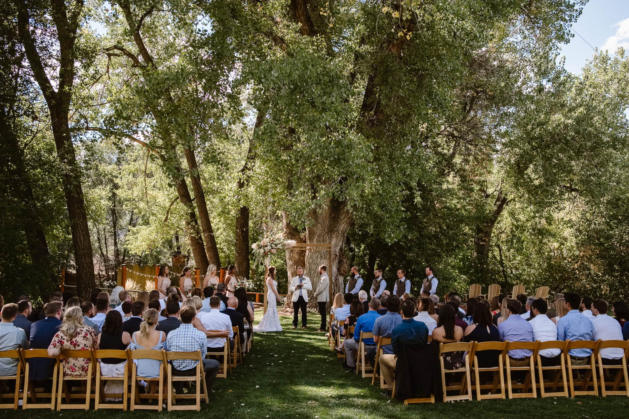 Lyons Farmette wedding photographer, Colorado intimate wedding photographer, wedding ceremony,