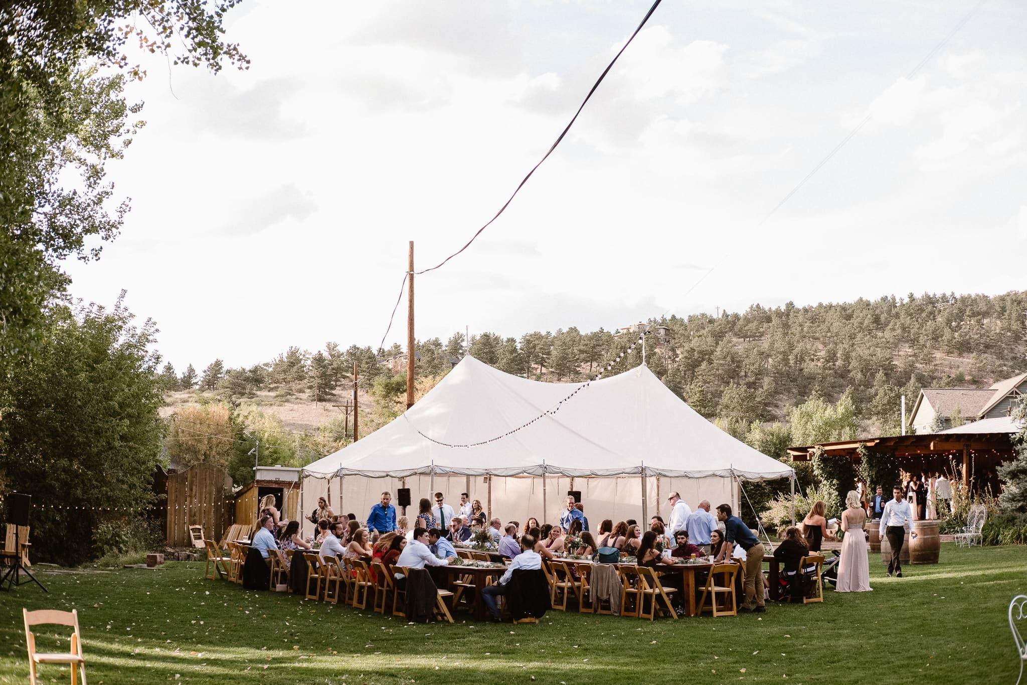 Lyons Farmette wedding photographer, Colorado intimate wedding photographer, cocktail hour photos,