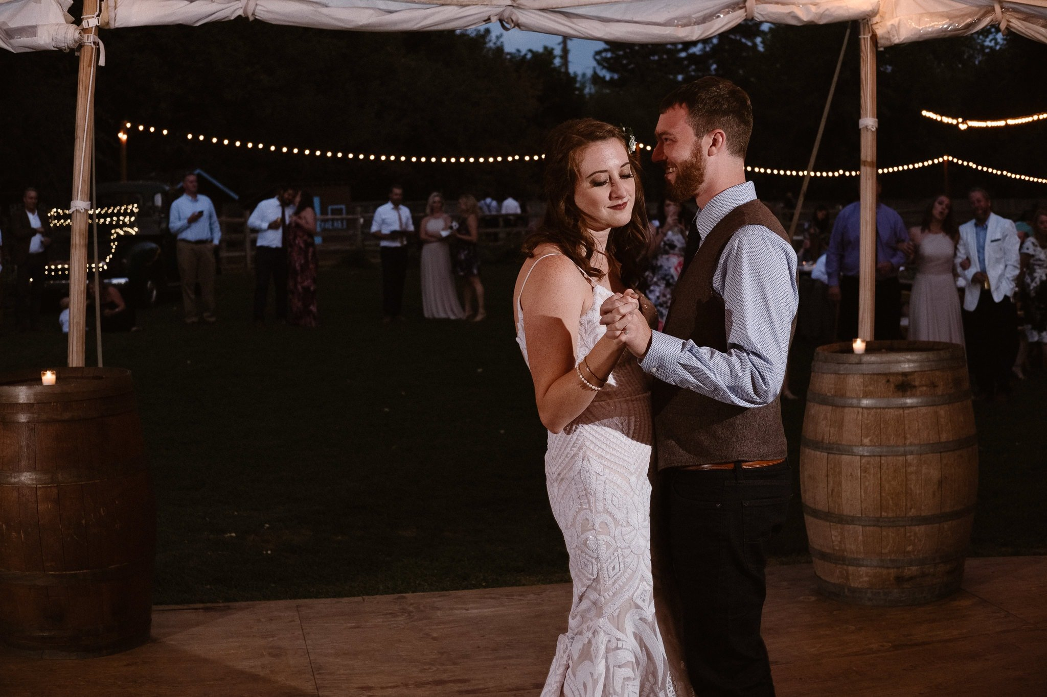 Lyons Farmette wedding photographer, Colorado intimate wedding photographer, first dance