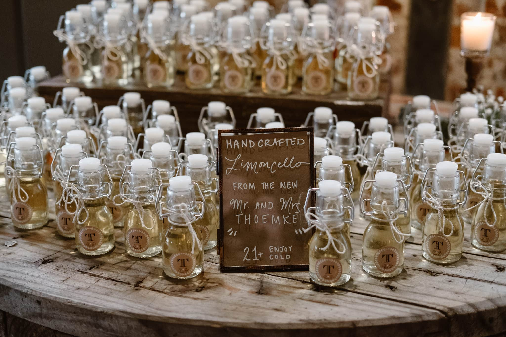 St Vrain Wedding Photographer | Longmont Wedding Photographer | Colorado Winter Wedding Photographer, Colorado industrial chic wedding ceremony, limoncello wedding favors