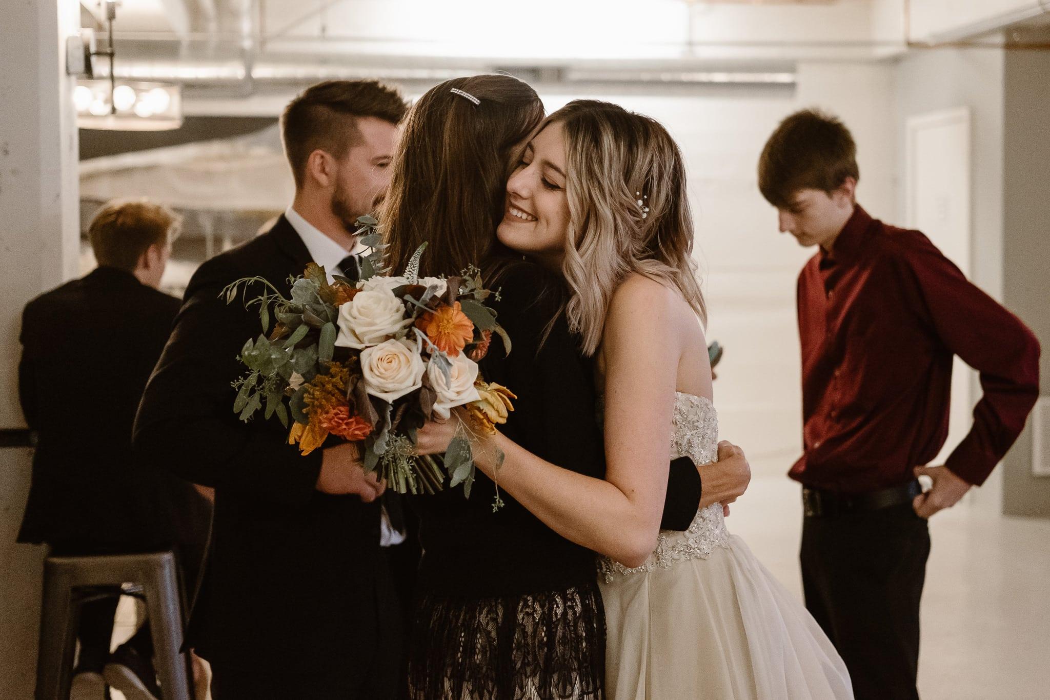 St Vrain Wedding Photographer | Longmont Wedding Photographer | Colorado Winter Wedding Photographer, Colorado industrial chic wedding ceremony, cocktail hour photos