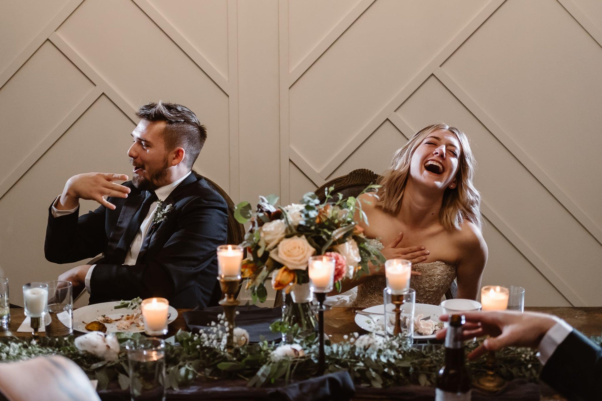 St Vrain Wedding Photographer | Longmont Wedding Photographer | Colorado Winter Wedding Photographer, Colorado industrial chic wedding ceremony, wedding toasts