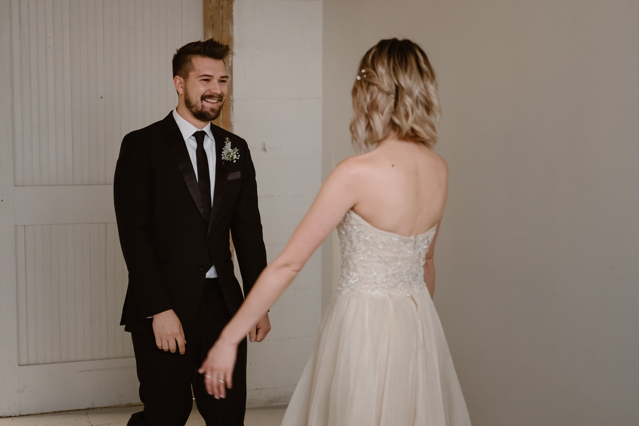 St Vrain Wedding Photographer | Longmont Wedding Photographer | Colorado Winter Wedding Photographer, Colorado industrial chic wedding, bride and groom first look