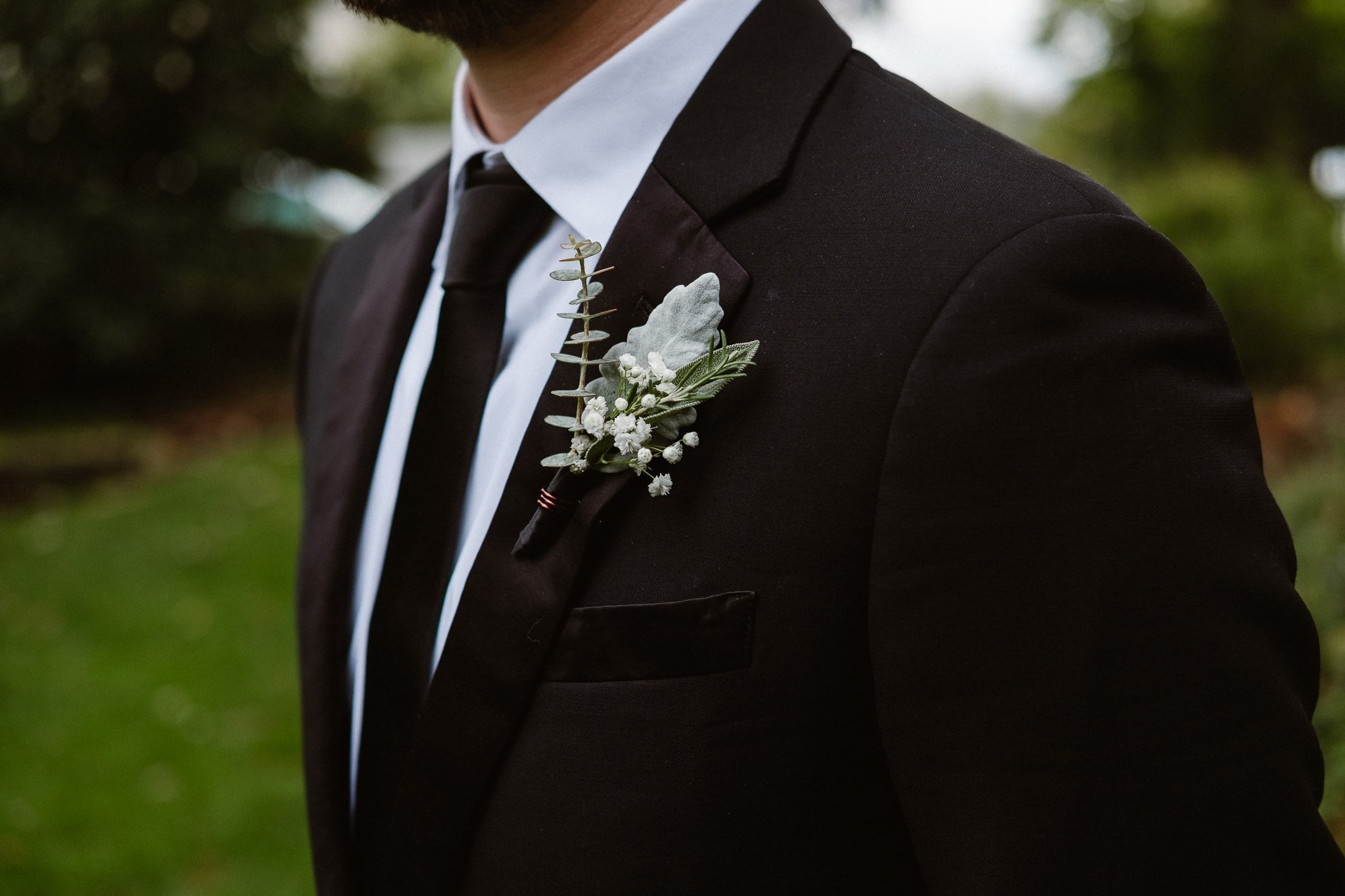 St Vrain Wedding Photographer | Longmont Wedding Photographer | Colorado Winter Wedding Photographer, Colorado industrial chic wedding, groom portrait, boutonniere