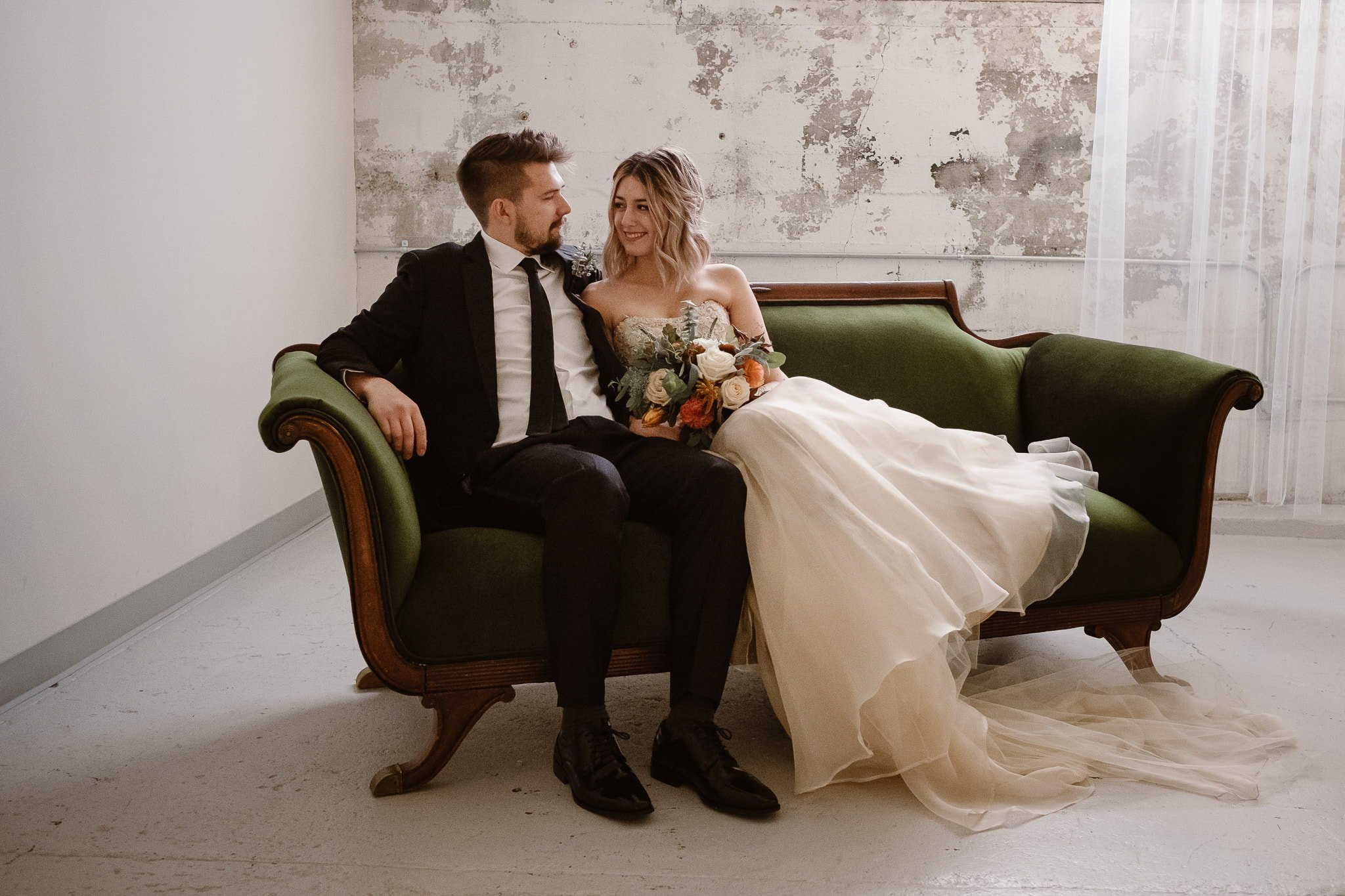 St Vrain Wedding Photographer   Longmont Wedding Photographer   Colorado Winter Wedding Photographer, Colorado industrial chic wedding, bride and groom portraits