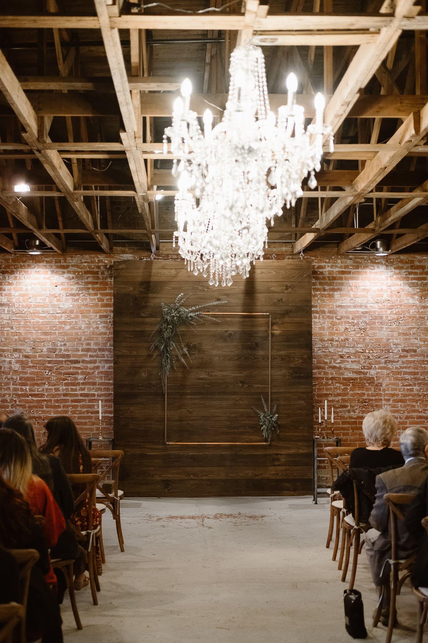 St Vrain Wedding Photographer | Longmont Wedding Photographer | Colorado Winter Wedding Photographer, Colorado industrial chic wedding ceremony