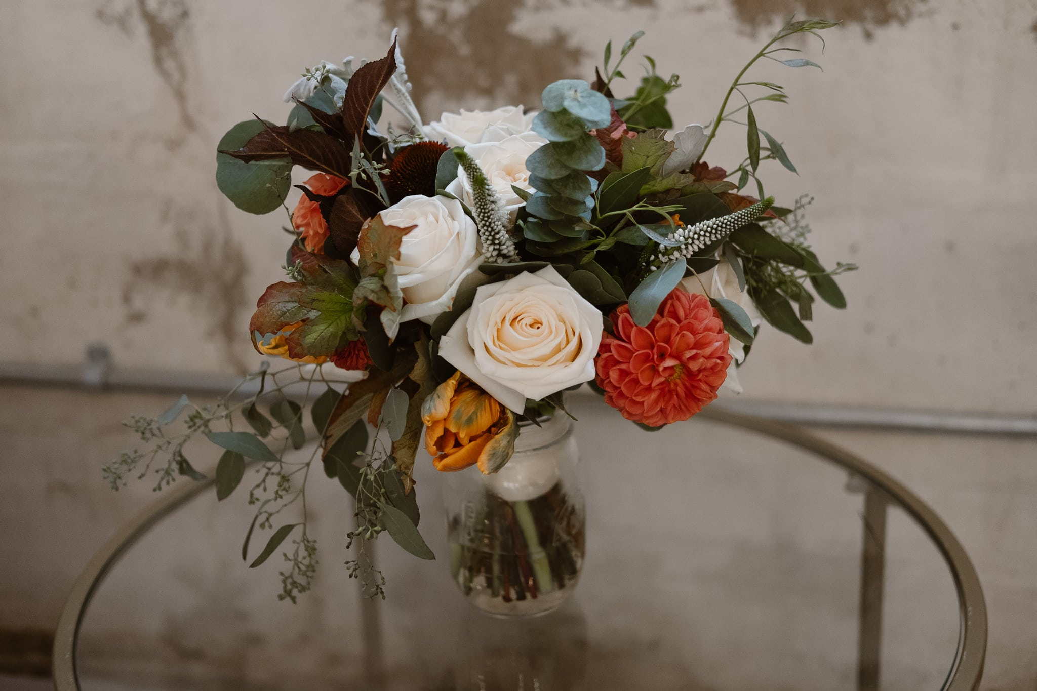 St Vrain Wedding Photographer | Longmont Wedding Photographer | Colorado Winter Wedding Photographer, Colorado industrial chic wedding, bride's bouquet