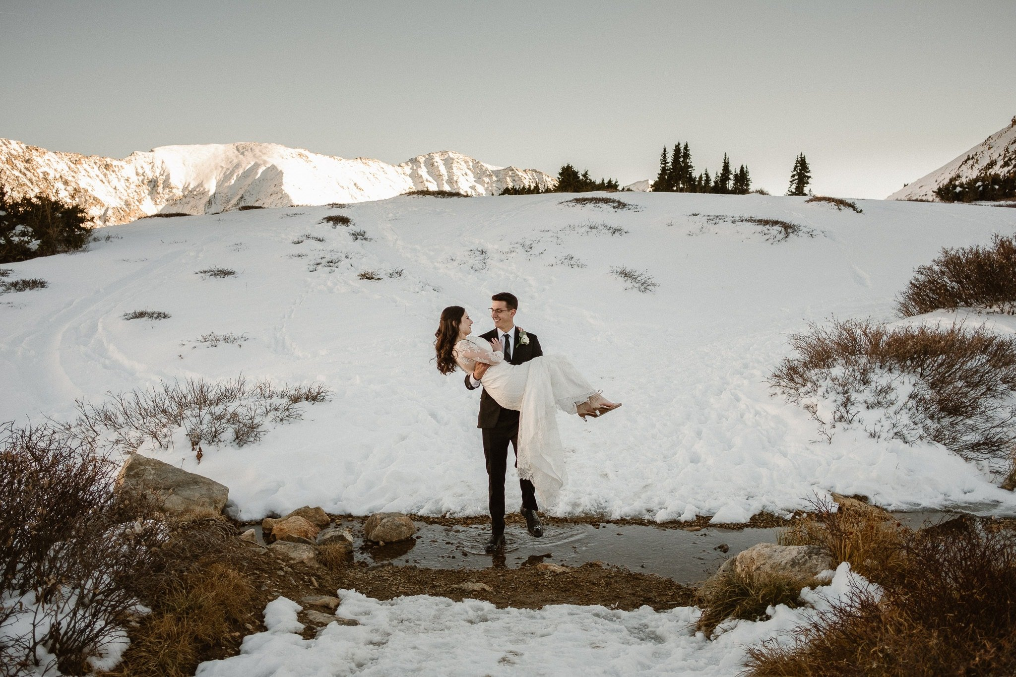 Lauren + Josh's Colorado Winter Elopement