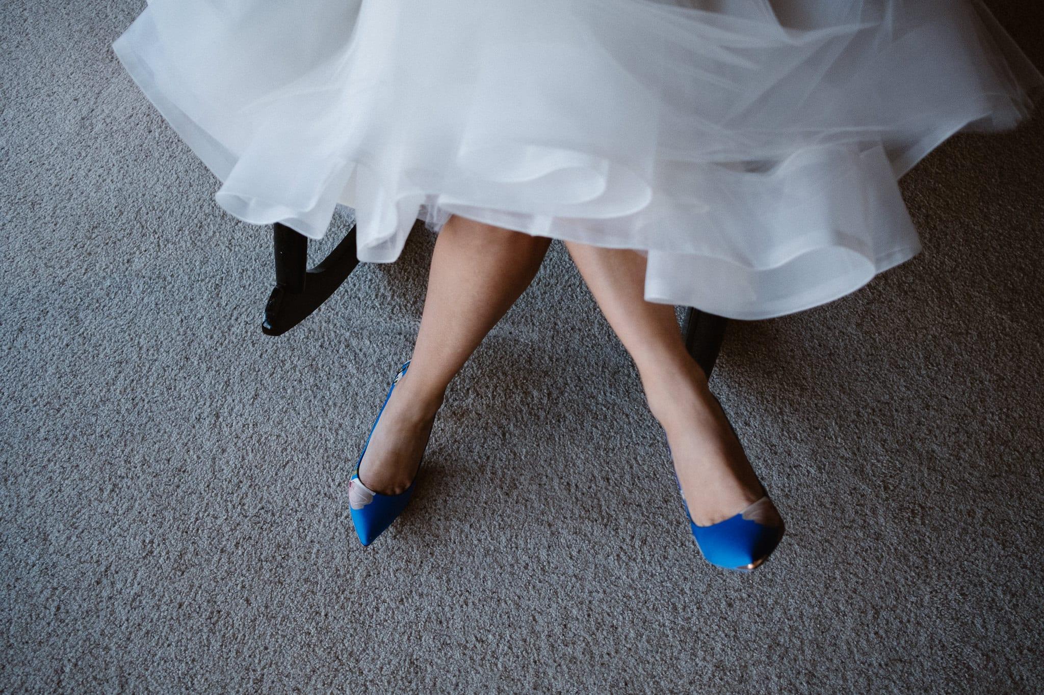 Bride portrait, bride getting ready for Silverthorne Pavilion wedding, Colorado wedding photographer