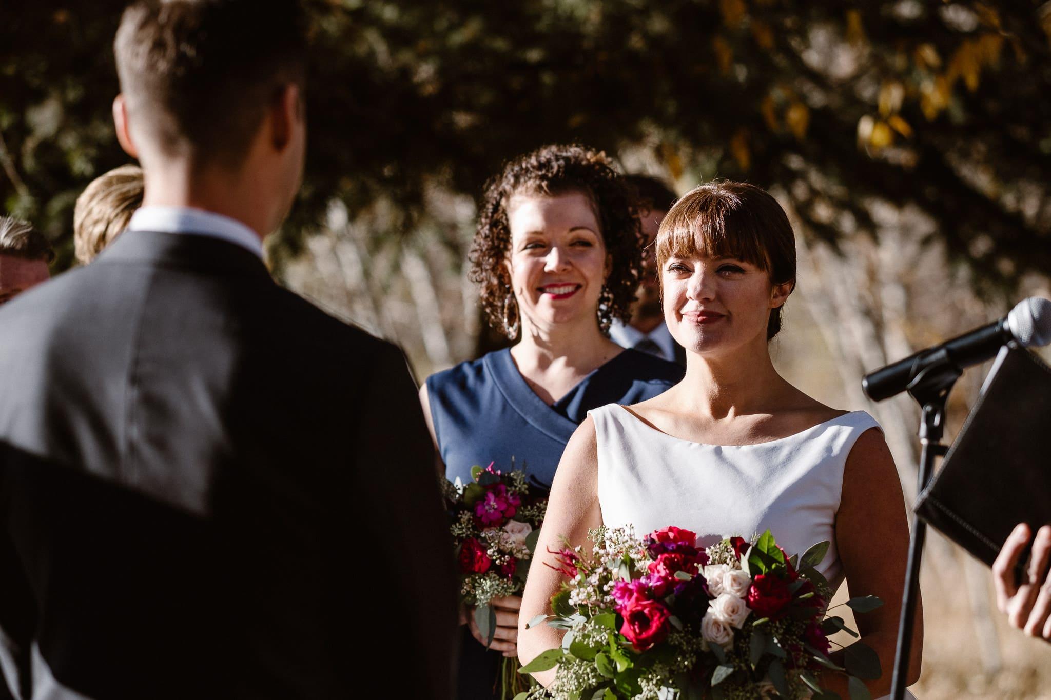 Silverthorne Pavilion wedding ceremony, Colorado wedding photographer, outdoor wedding ceremony