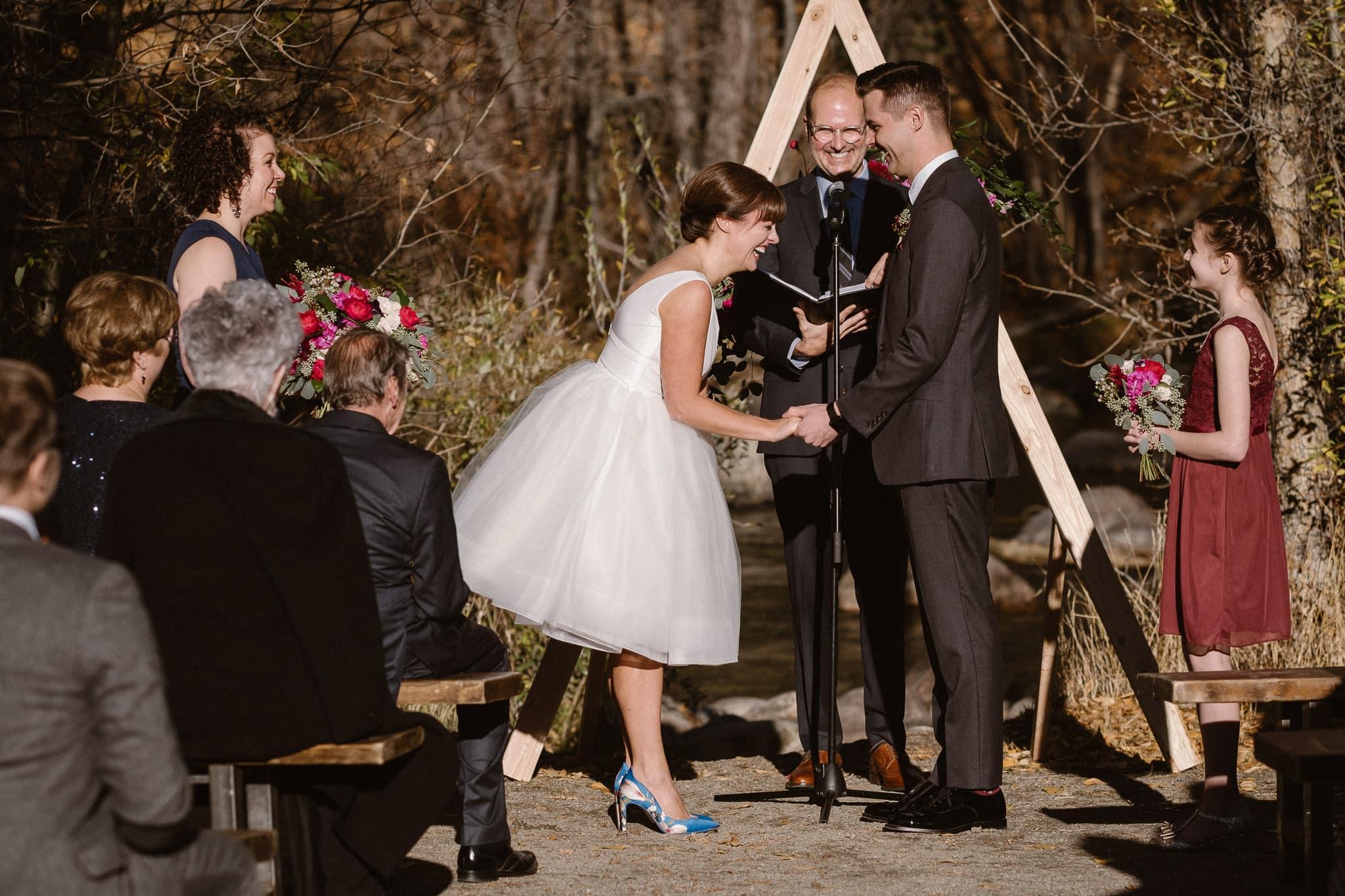 Silverthorne Pavilion wedding ceremony, Colorado wedding photographer, outdoor wedding ceremony, Colorado mountain wedding venues