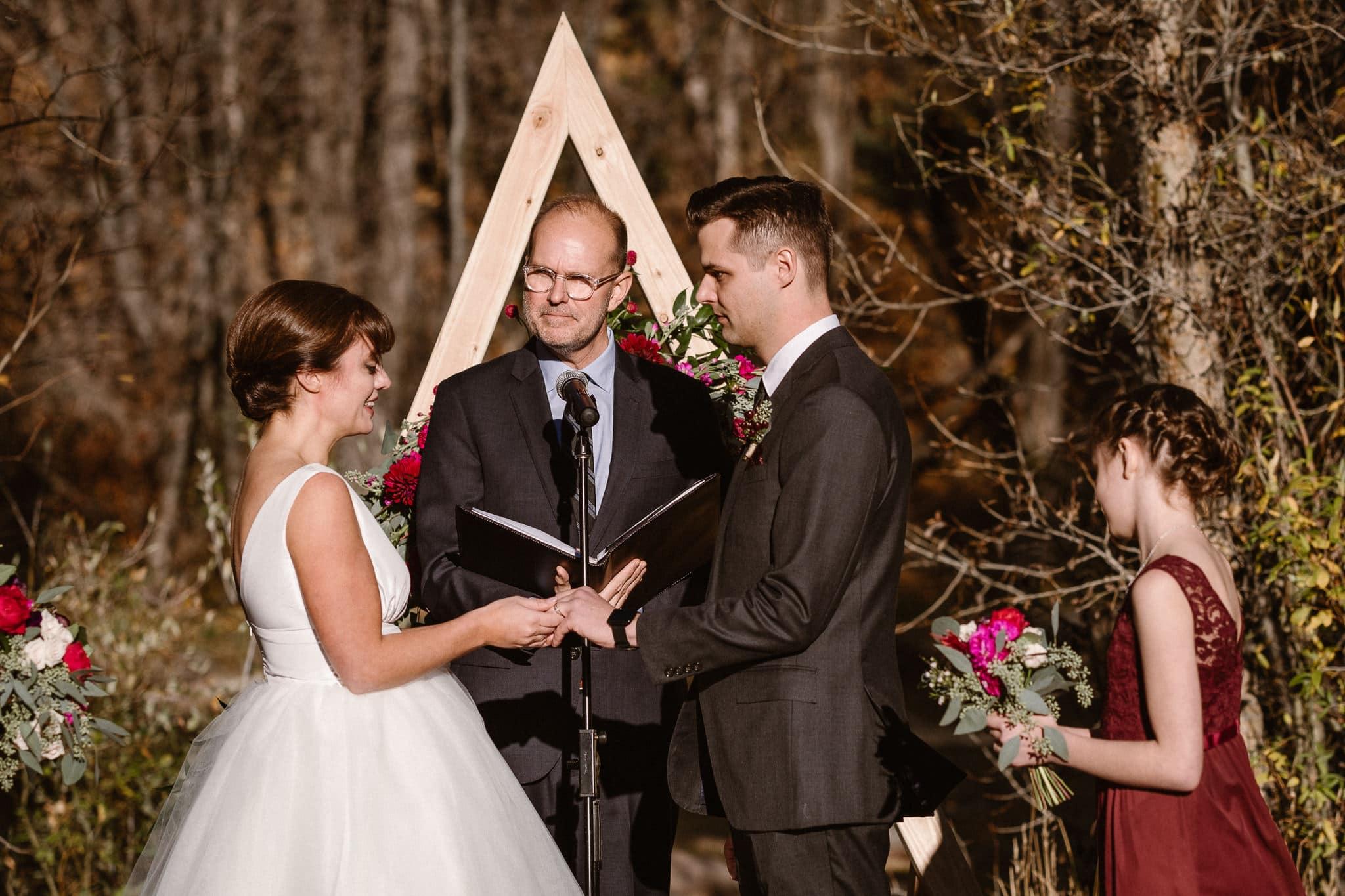 Silverthorne Pavilion wedding ceremony, Colorado wedding photographer, outdoor wedding ceremony, Colorado mountain wedding venues,