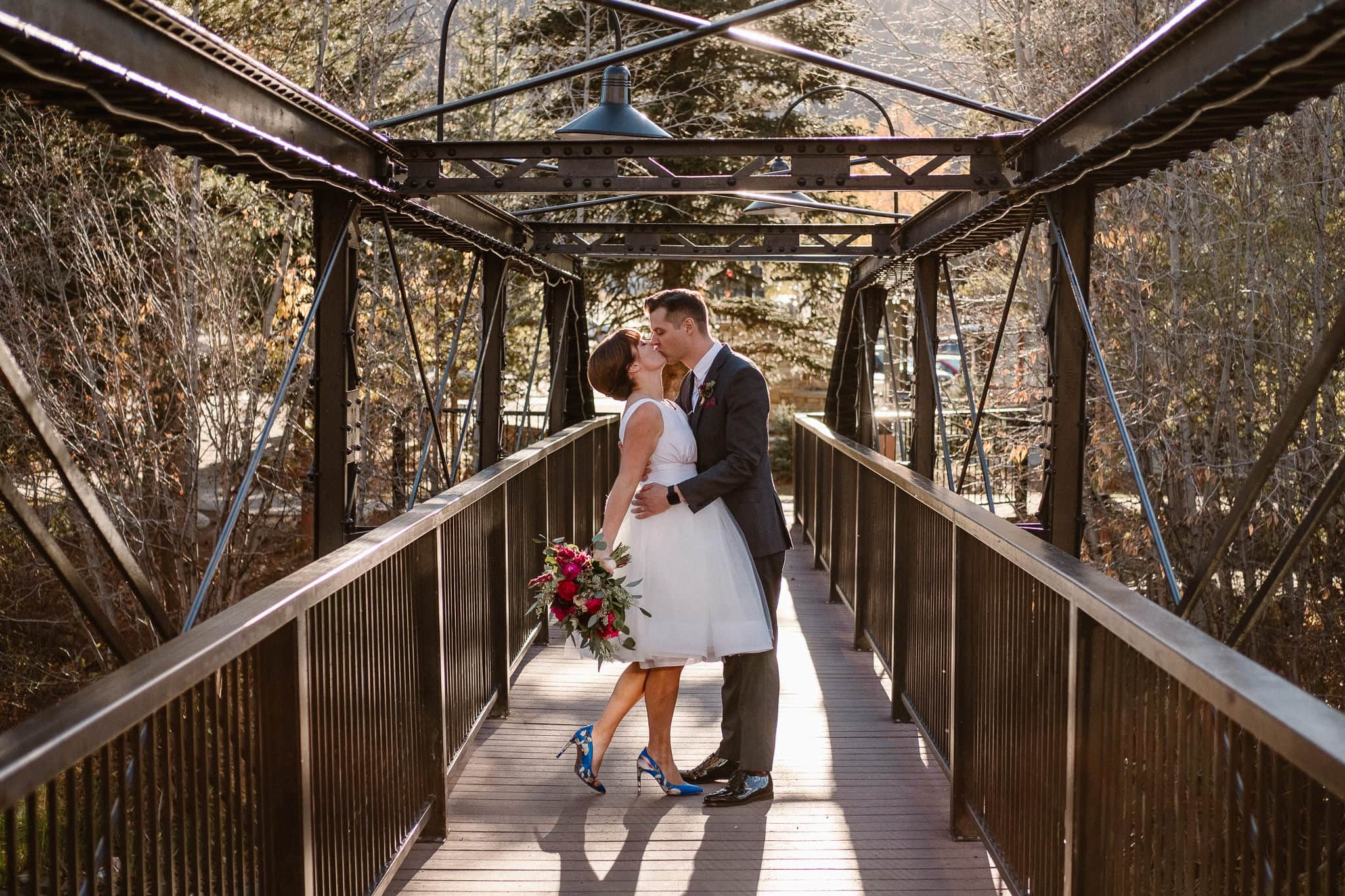 Silverthorne Pavilion wedding photography, Colorado wedding photographer, bride and groom portraits