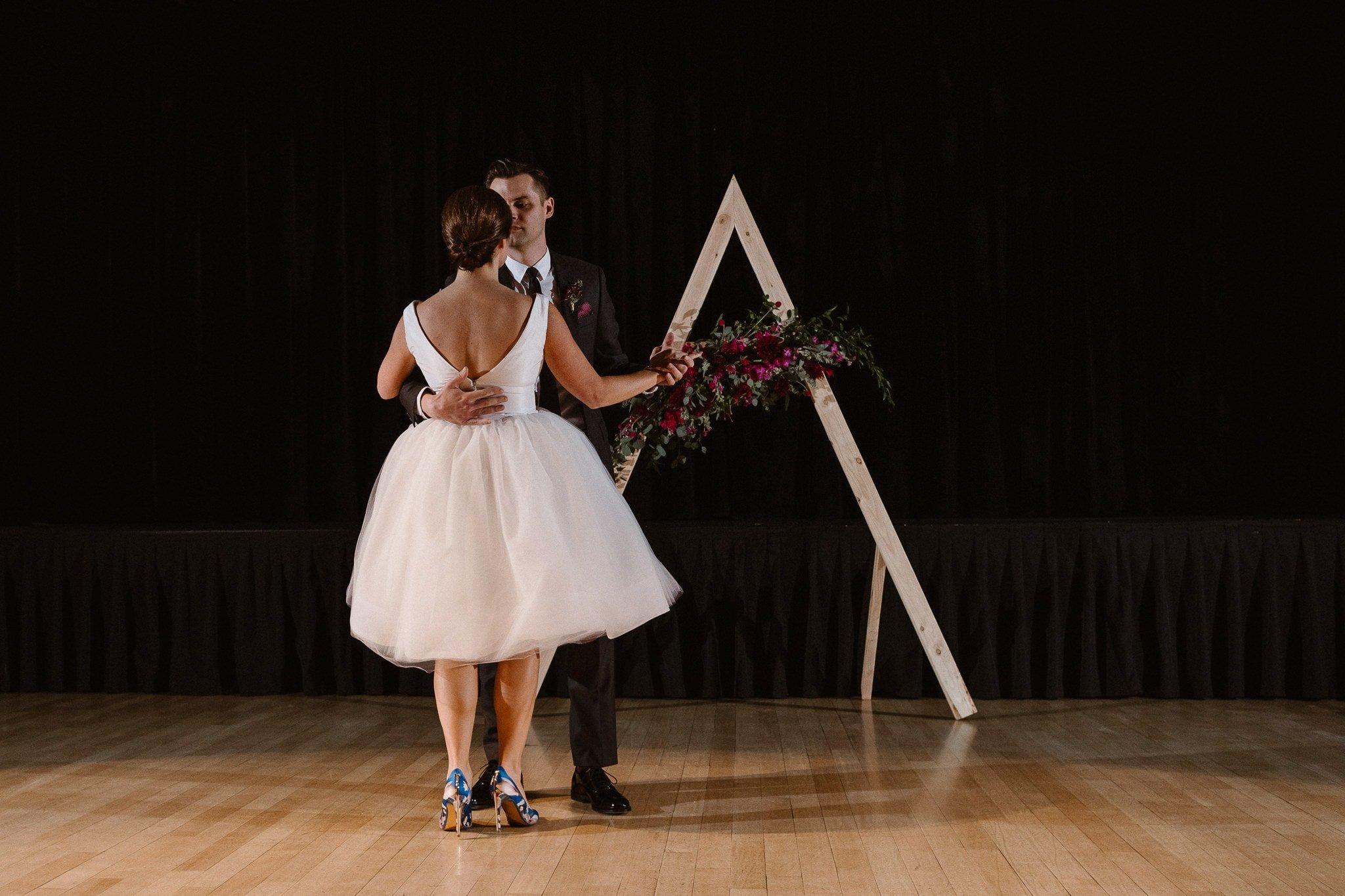 Silverthorne Pavilion wedding photography, Colorado wedding photographer, bride and groom first dance