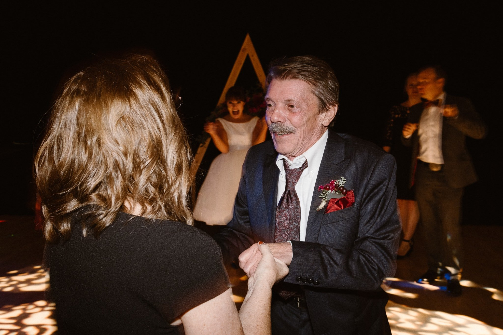 Silverthorne Pavilion wedding photography, Colorado wedding photographer, wedding reception dance party