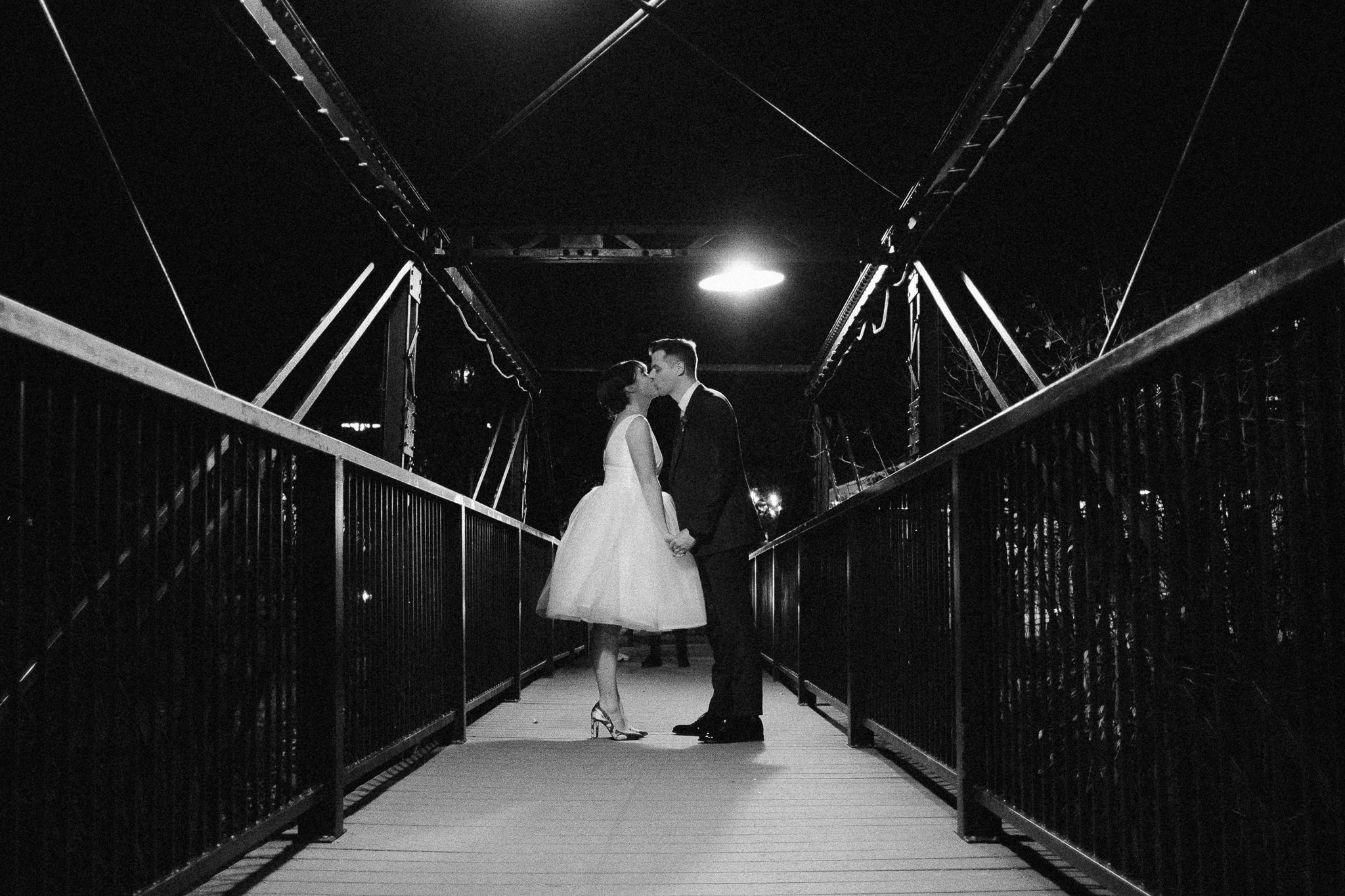 Silverthorne Pavilion wedding photography, Colorado wedding photographer, bride and groom streetlight night time portrait