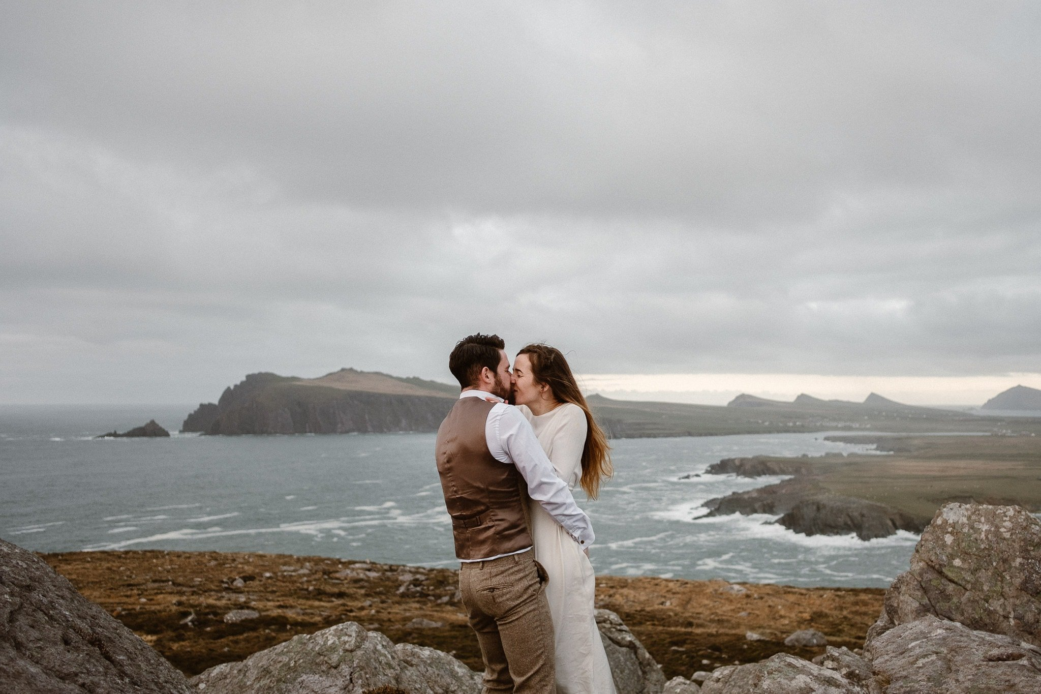 Dingle Peninsula wedding photographer, Slea Head elopement photographer, Irish adventure elopement, Ireland destination wedding photographer