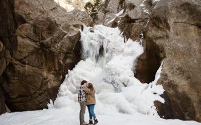 Liz + William's Boulder Falls Engagement
