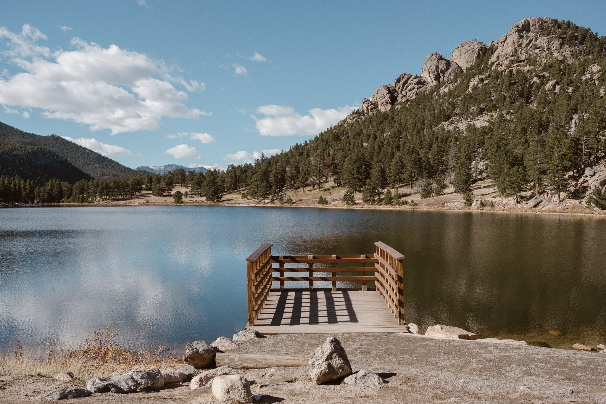 Rocky Mountain National Park wedding locations, Lily Lake Dock