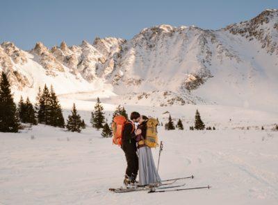 Christine + Jordan's Backcountry Skiing Elopement