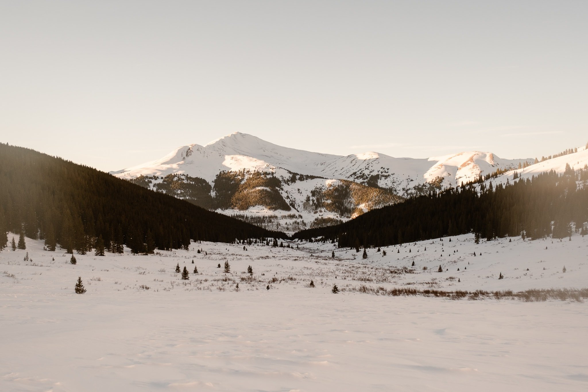 View from Mayflower Gulch near Leadville and Copper Mountain in Colorado