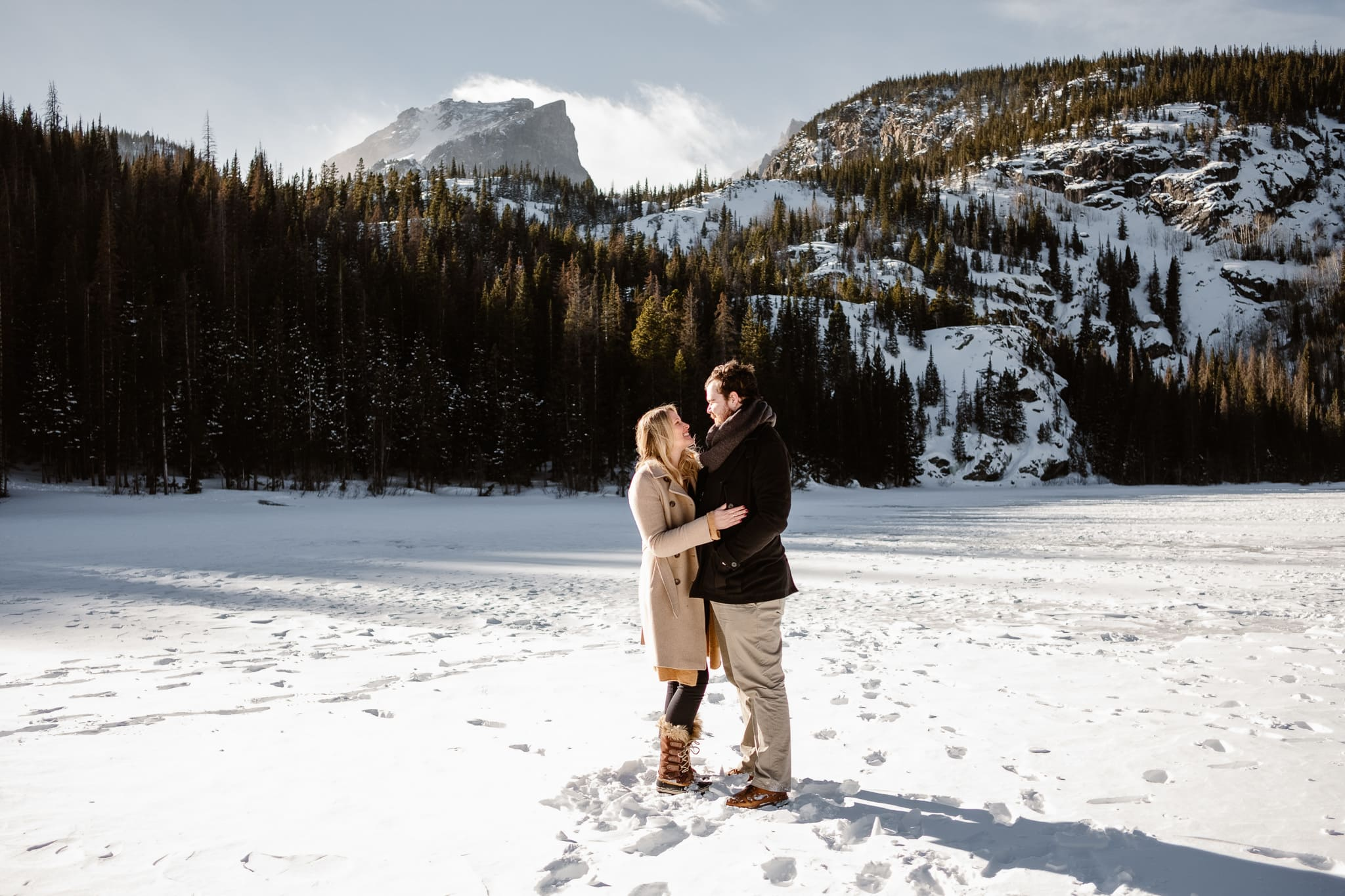 Bear Lake engagement session in Rocky Mountain National Park