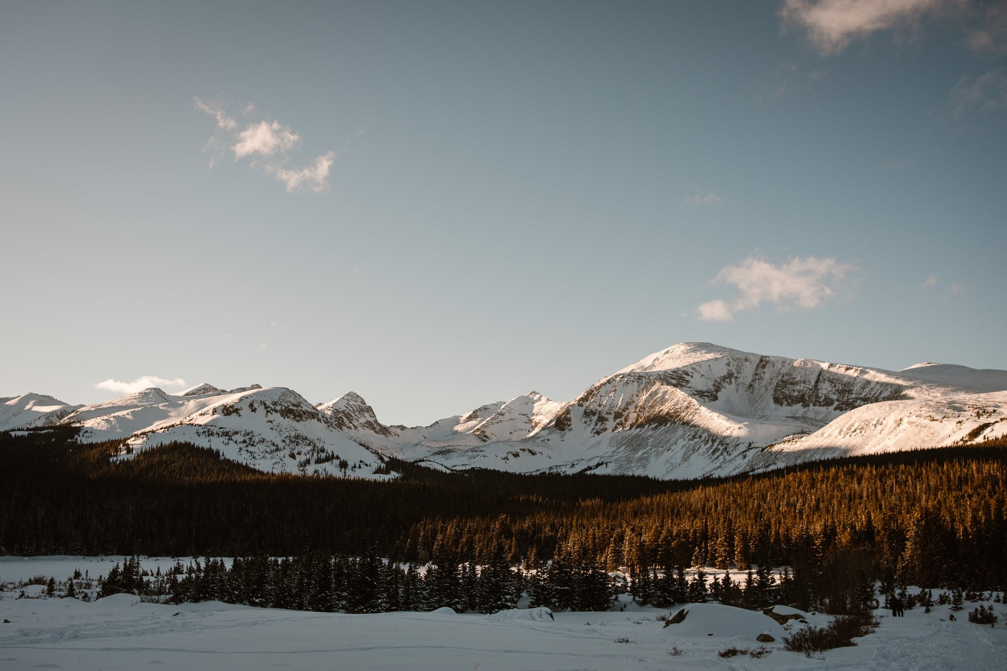 Brainard Lake winter elopement, Boulder engagement session location