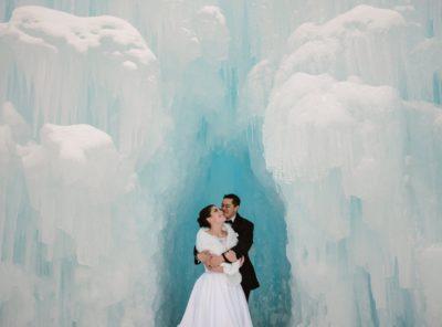 Hannah + Ashton's Ice Castles Post-Wedding Session