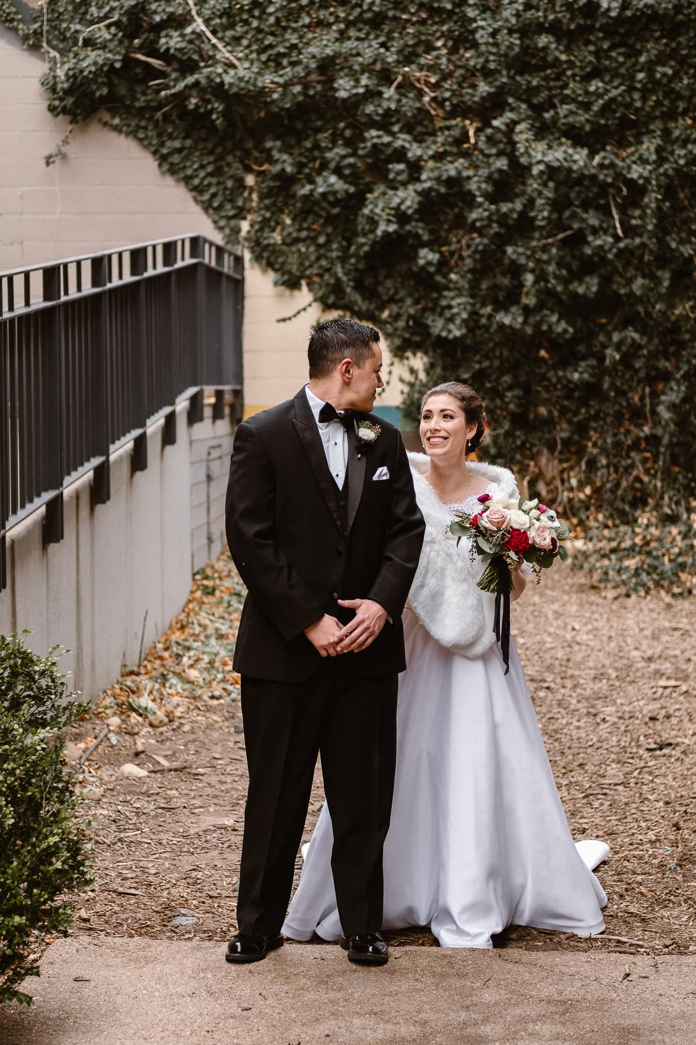 Rembrandt Yard wedding photographer, Boulder wedding photographer, Colorado Jewish wedding, bride and groom first look