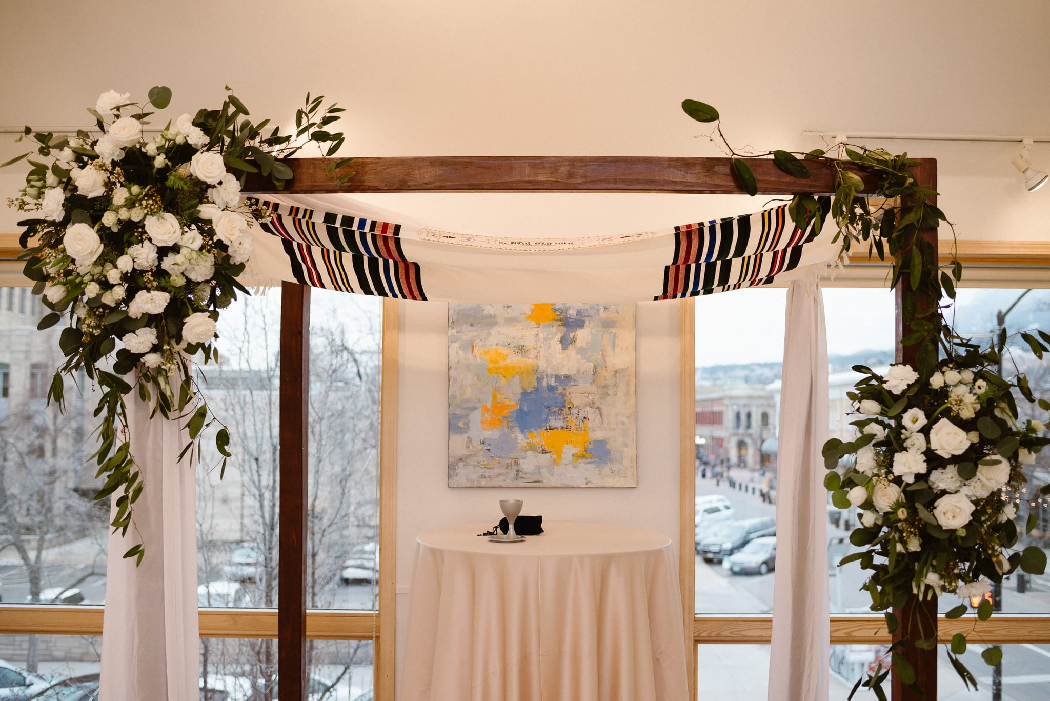 Rembrandt Yard wedding photographer, Boulder wedding photographer, Colorado Jewish wedding, wedding chuppah